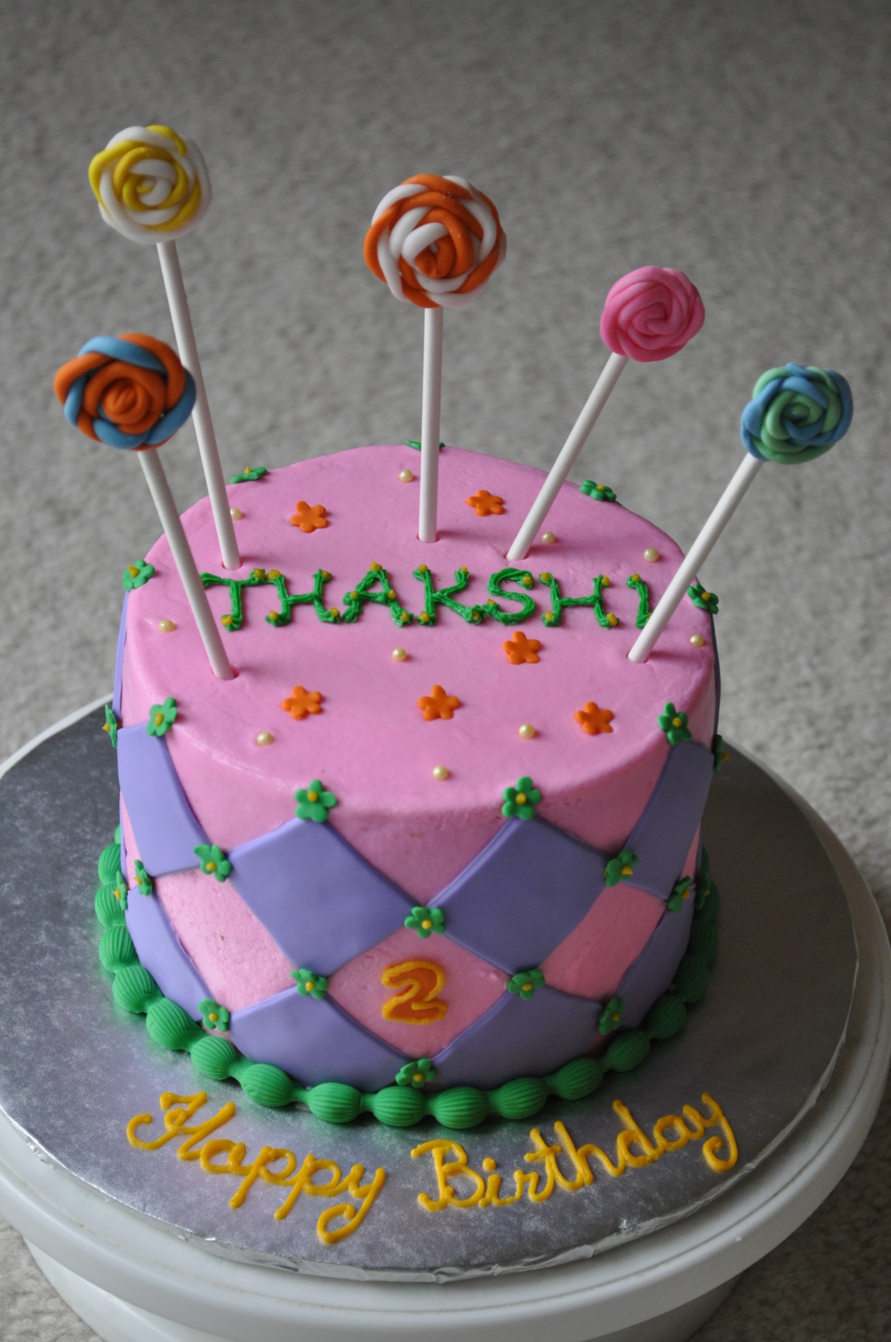 Candy lollipop cake