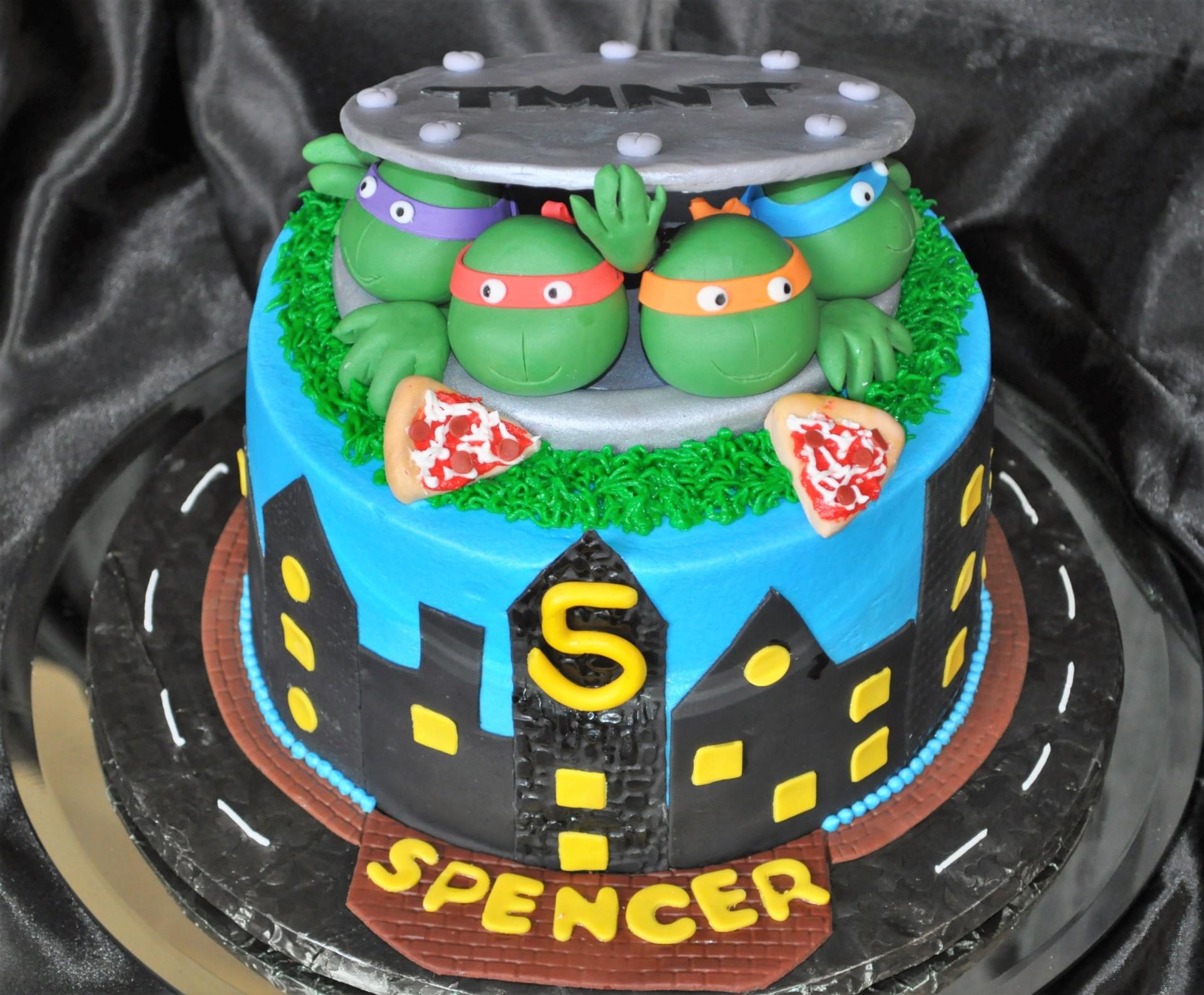 TMNT cake, Ninja turtles cake