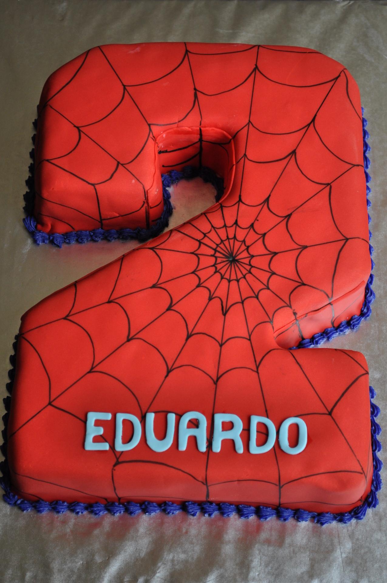 Spiderman cake, number 2 cake