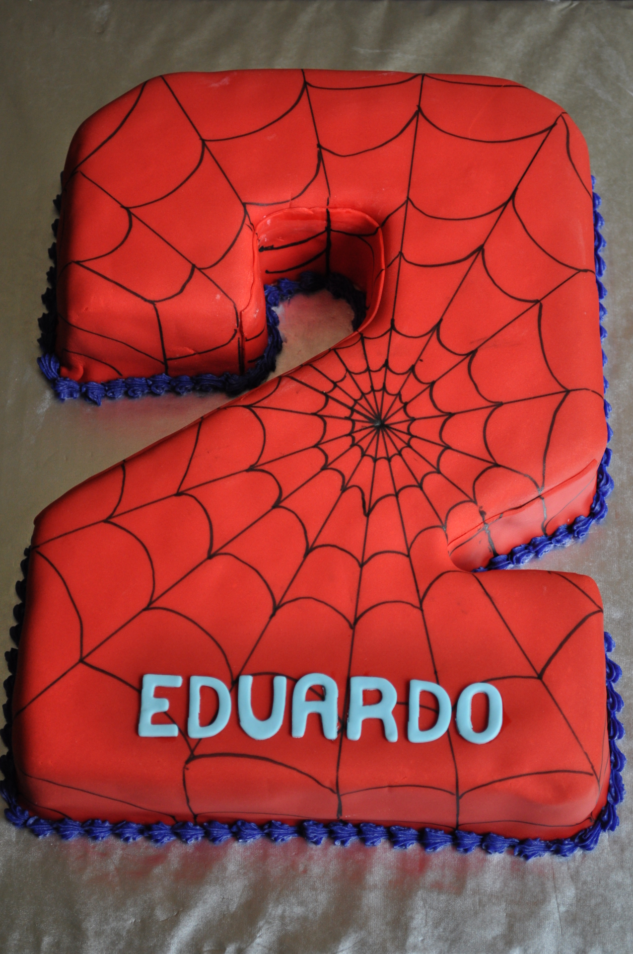 Spiderman cake, number 2 cake