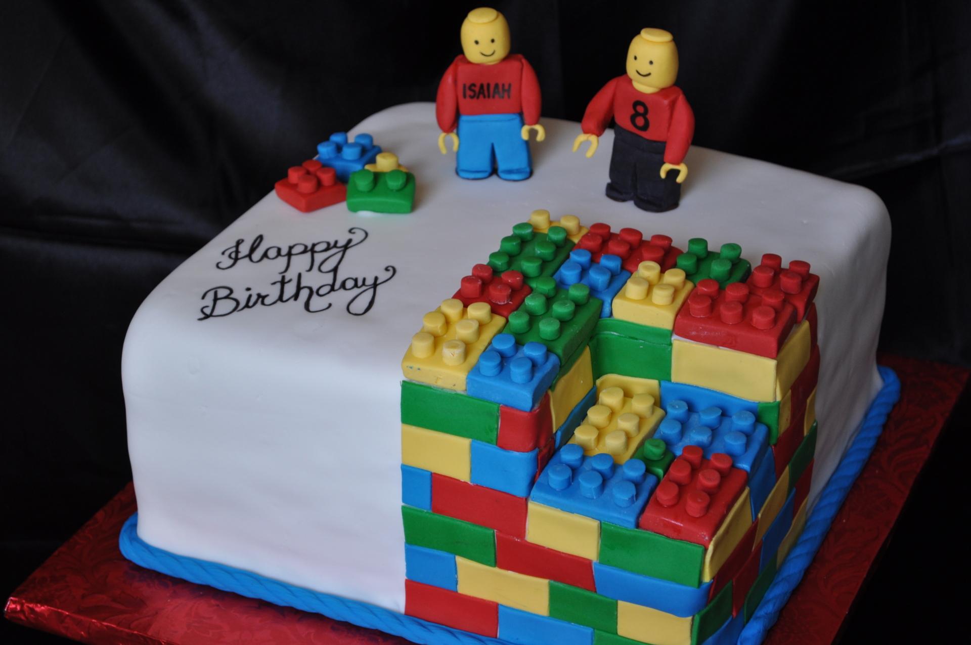 Lego cake,fondant cake