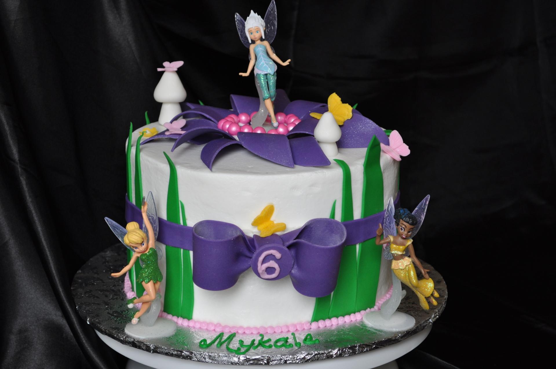 Tinkerbell cake, Fairy garden cake