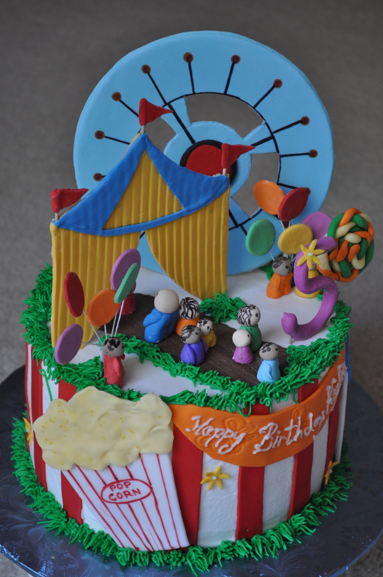 Carnival theme birthday cake