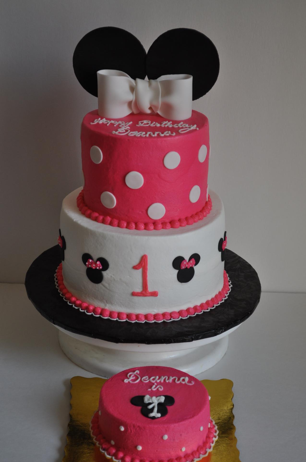 Minnie mouse cake,1st birthday cake ,smash cake