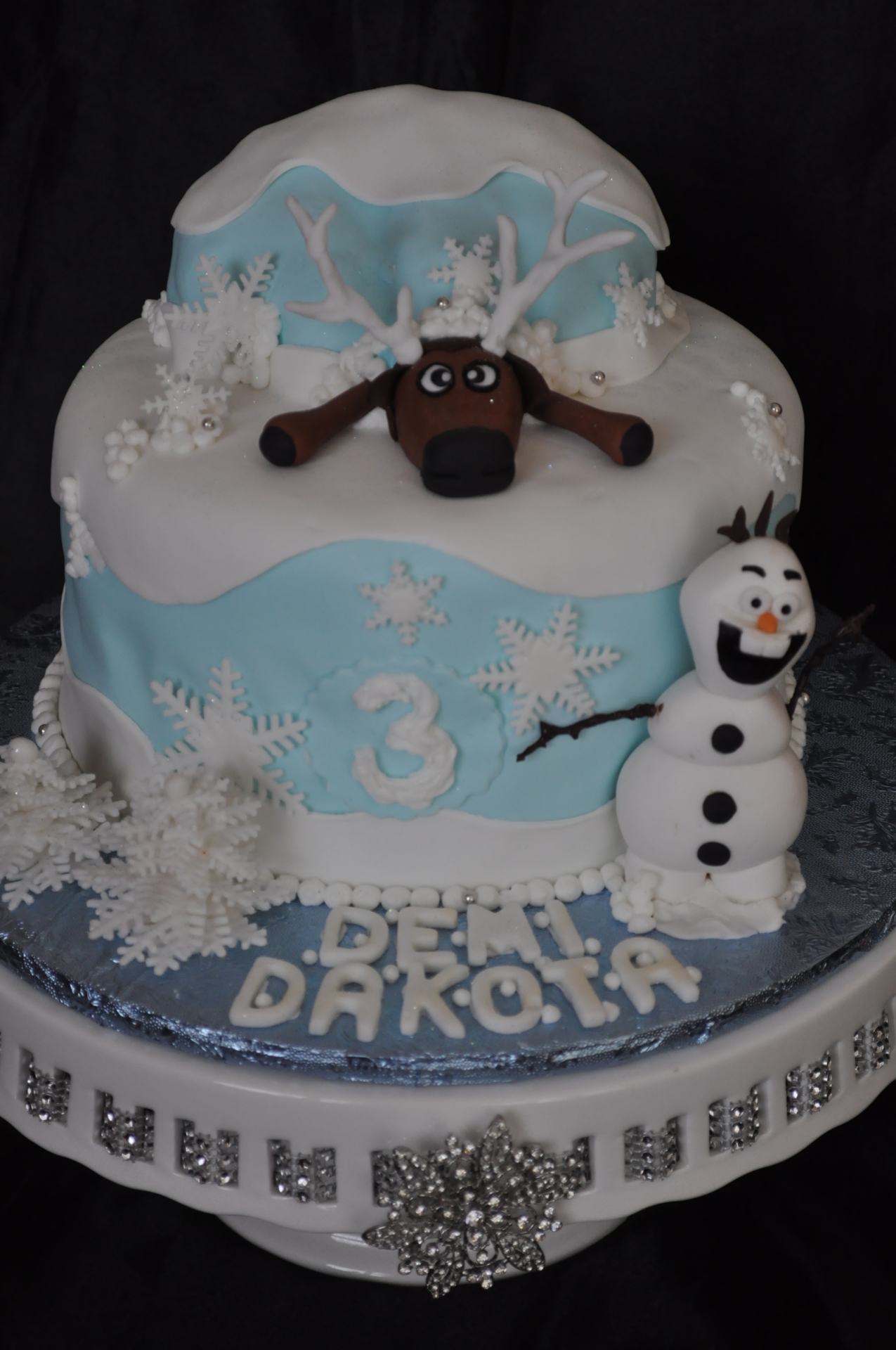Frozen cake,Disney's Frozen,Olaf cake