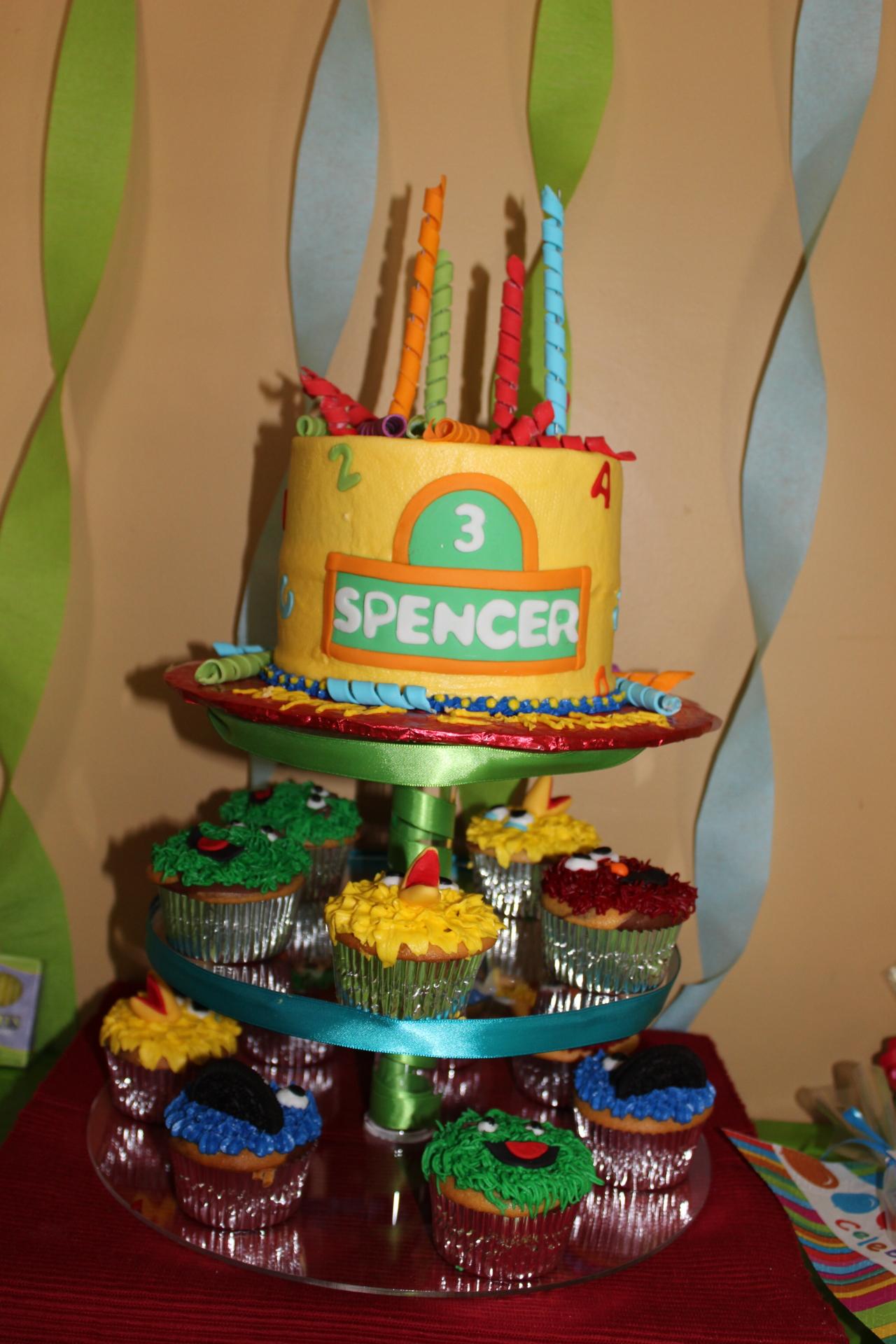 Sesame street cake cupcakes