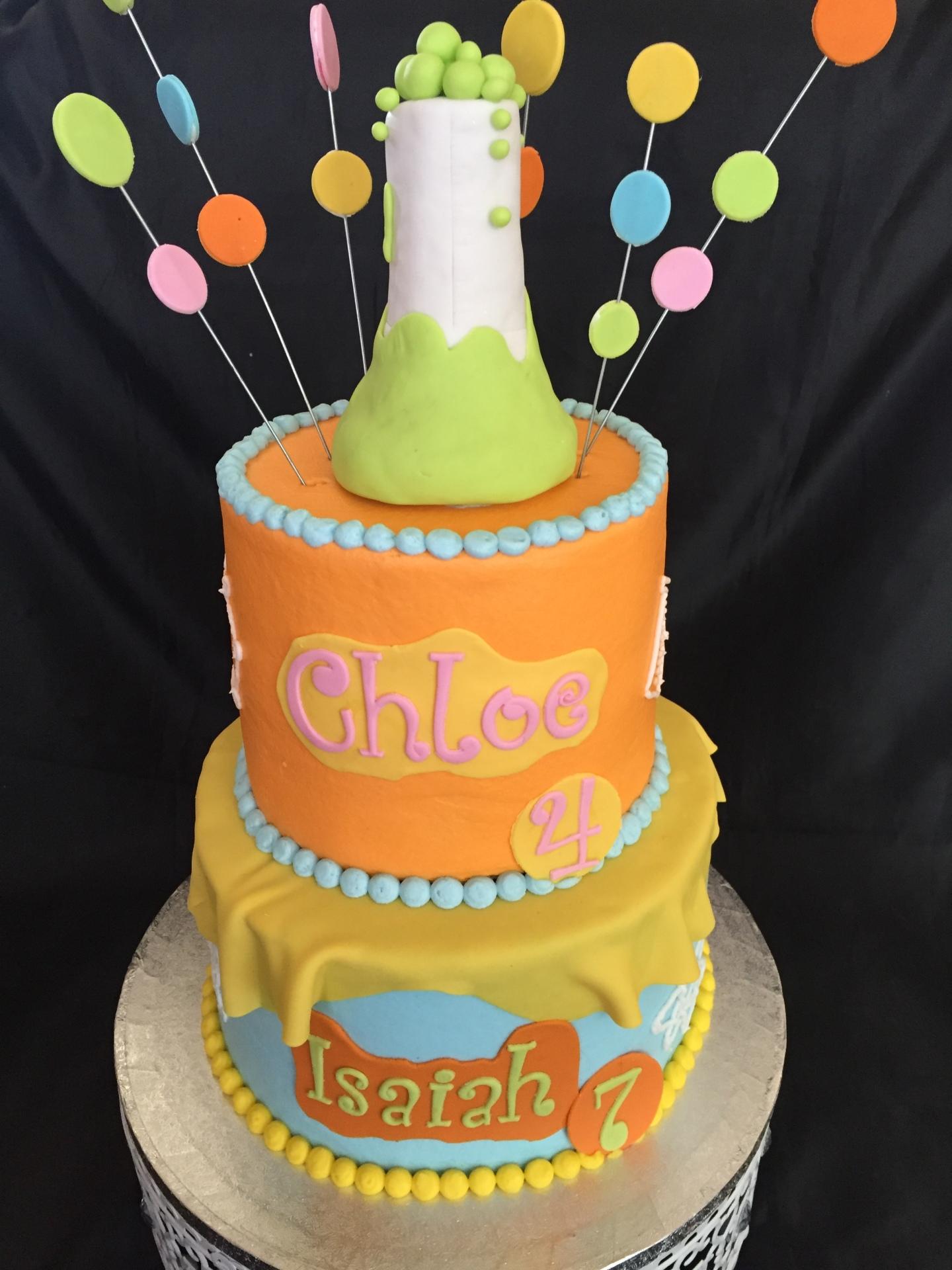 Science theme cake