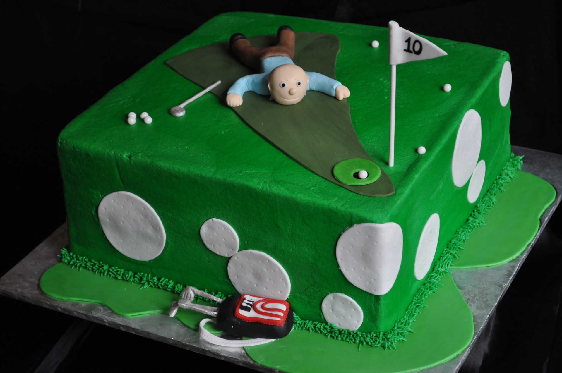 Golf cake, groom's cake,sports birthday cake