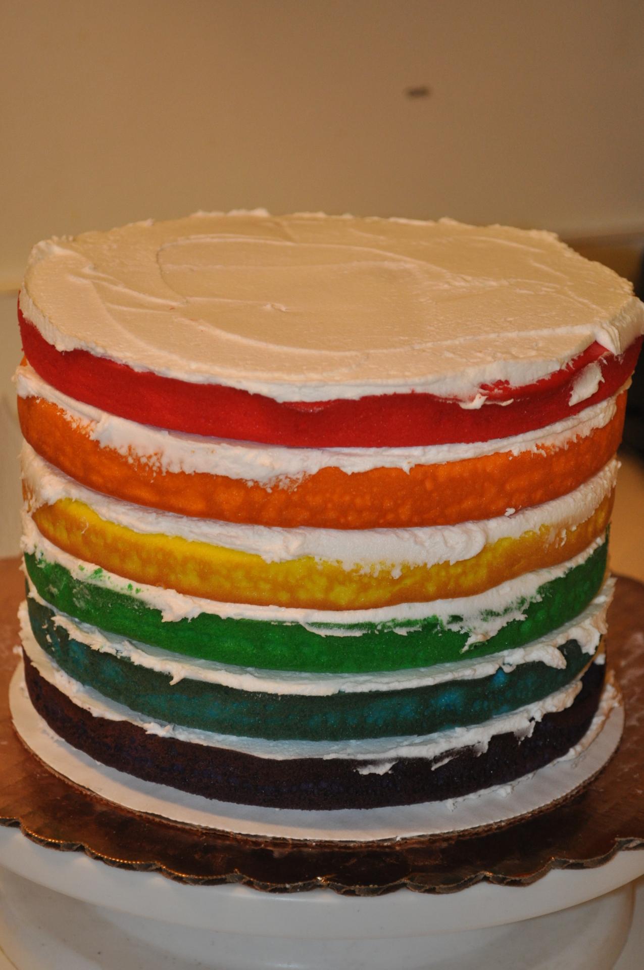 Rainbow cake inside- example