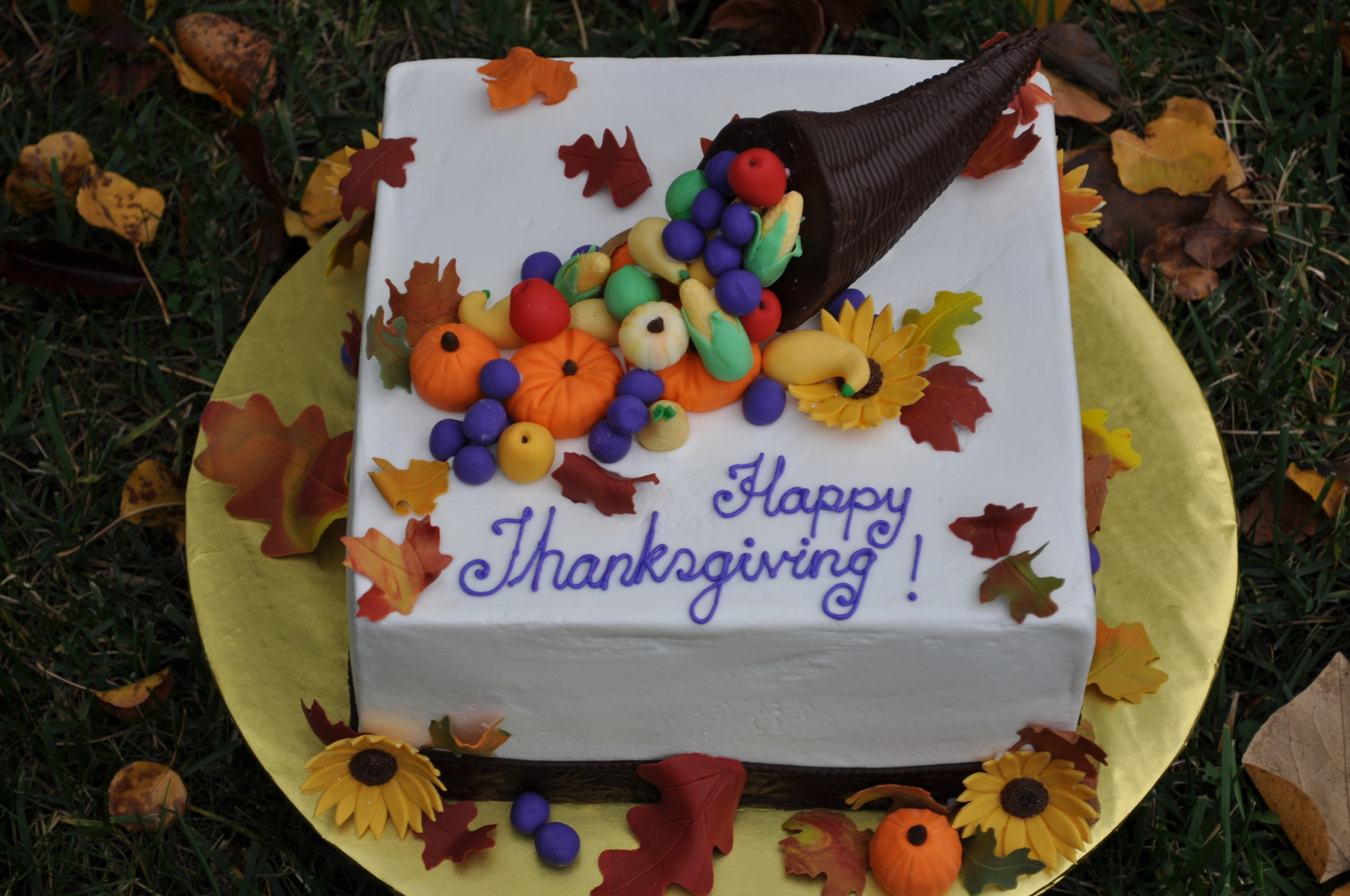 Thanksgiving cake, plenty of horn cake,fall cake