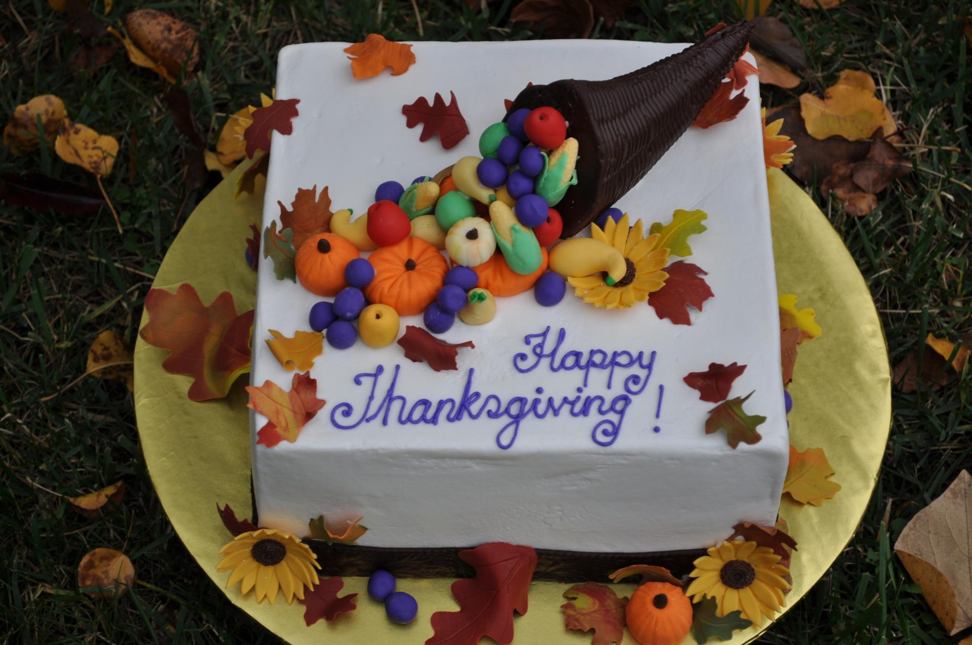 Thanksgiving cake, plenty of horn cake,fall cake