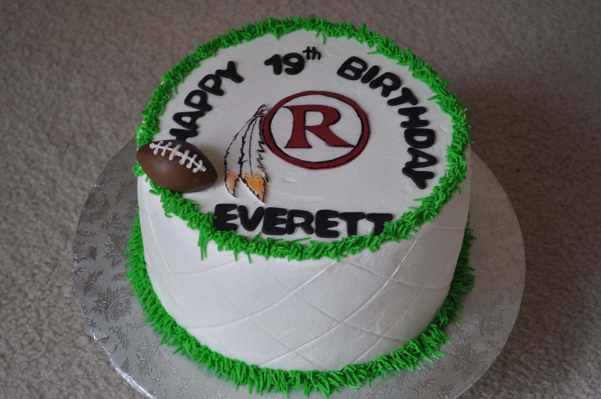 Redskins birthday cake