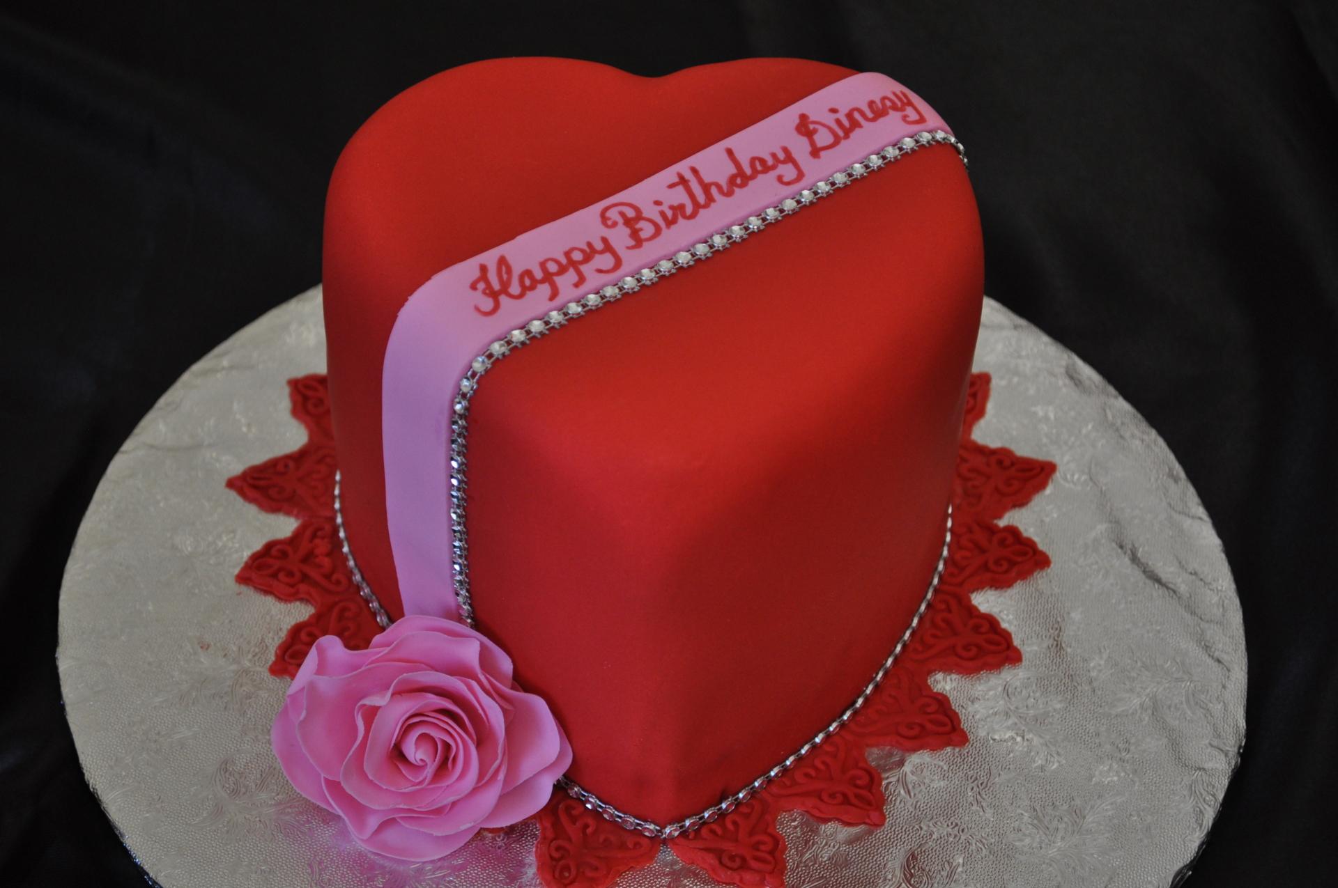 Valentine's cake, red heart cake,anniversary cake