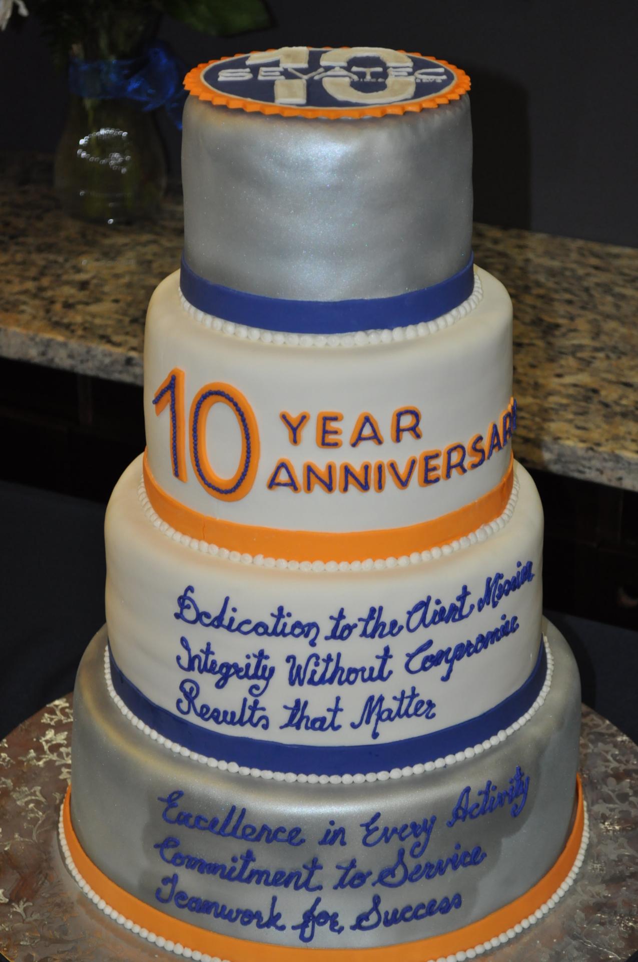 10th anniversary cake-Corporate event cake