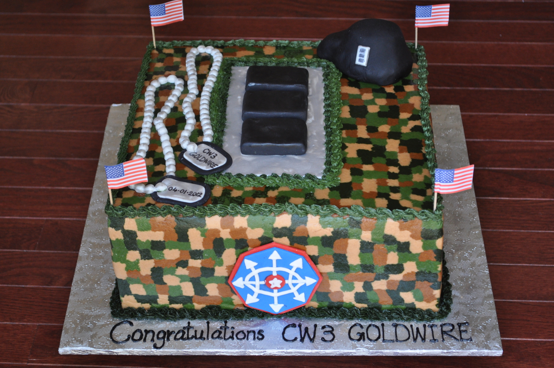 Military promotion cake, military rank cake,army cake