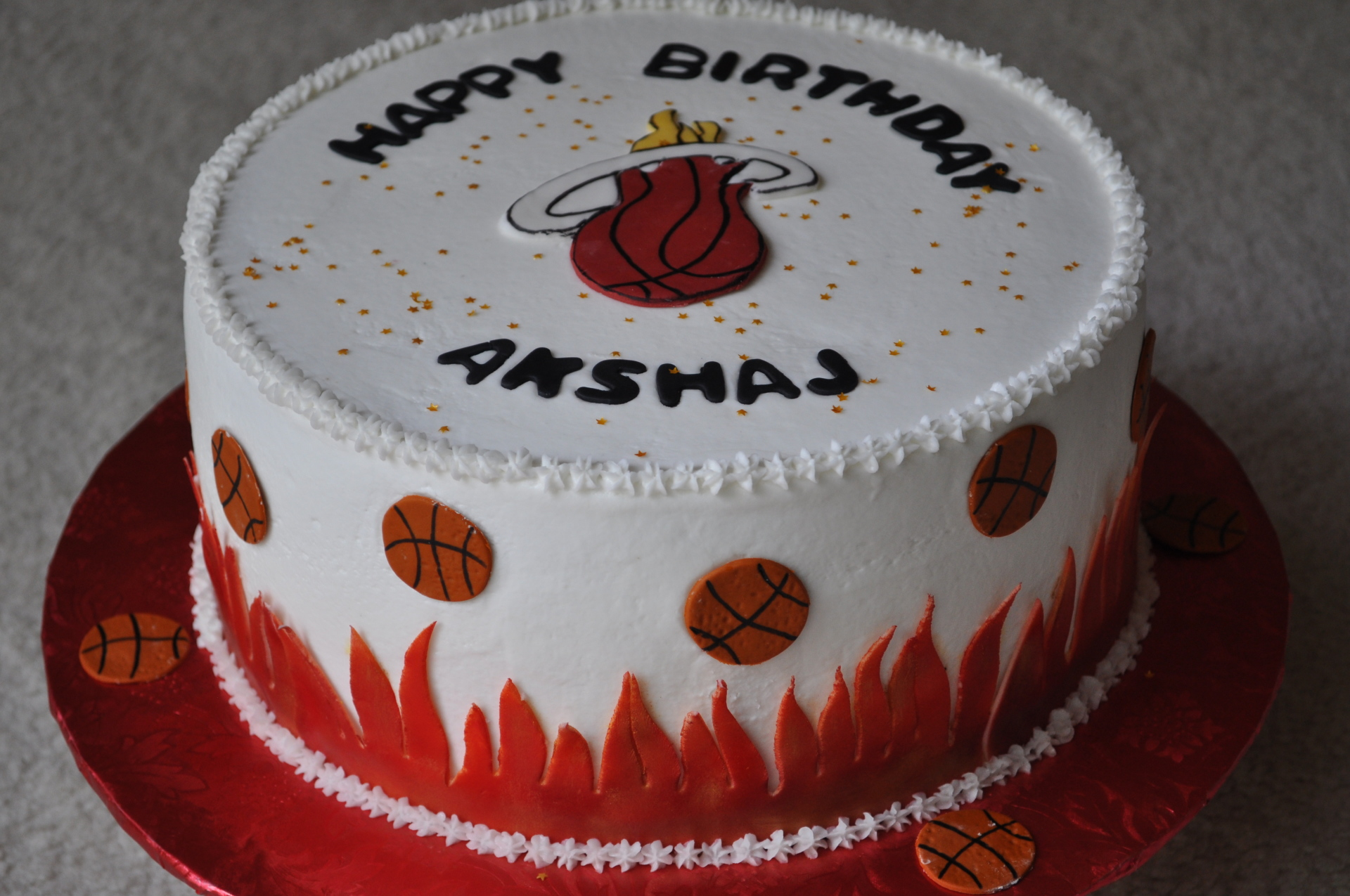 Basketball cake, Miami heat cake