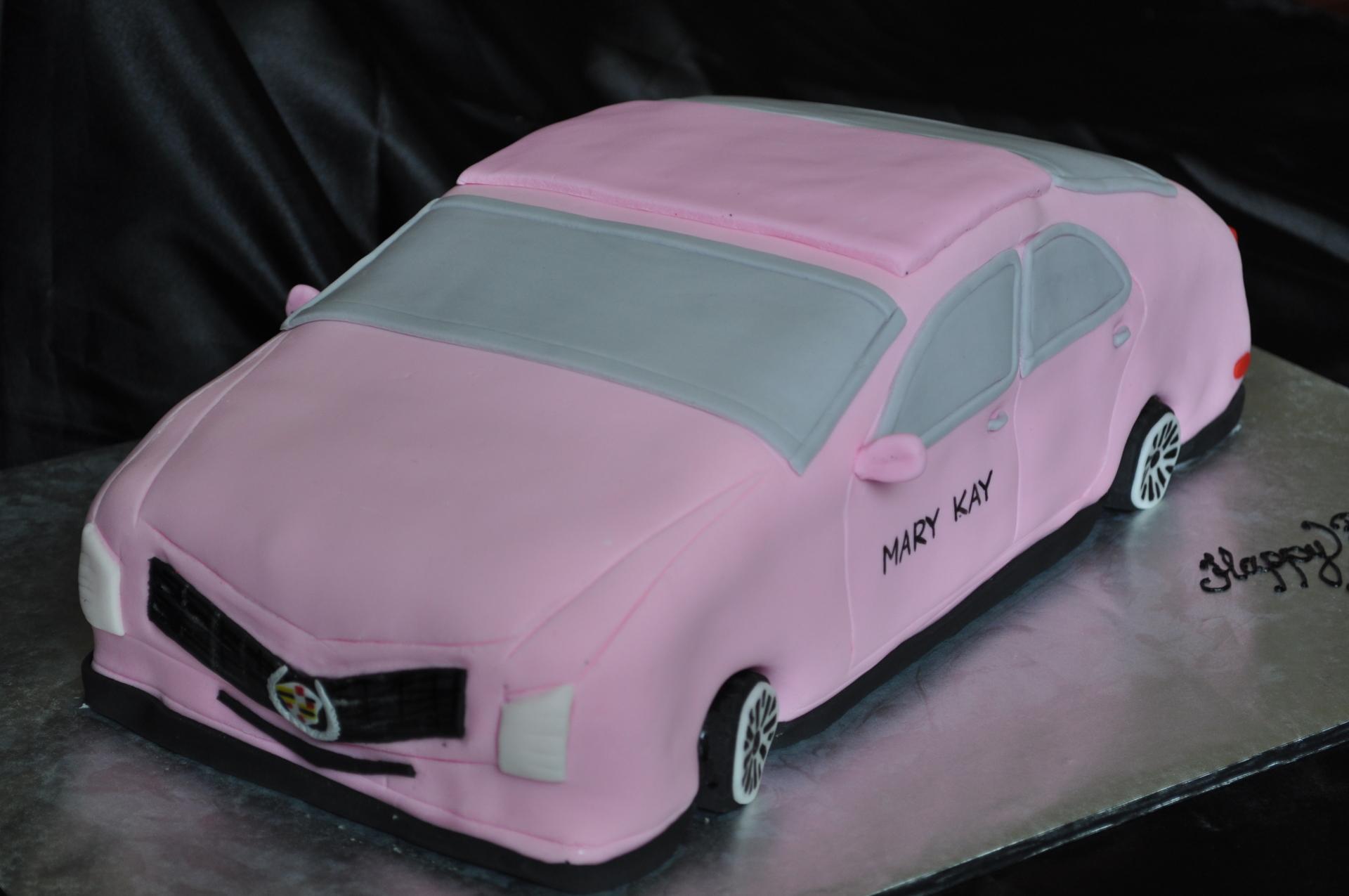 Pink cadillac cake