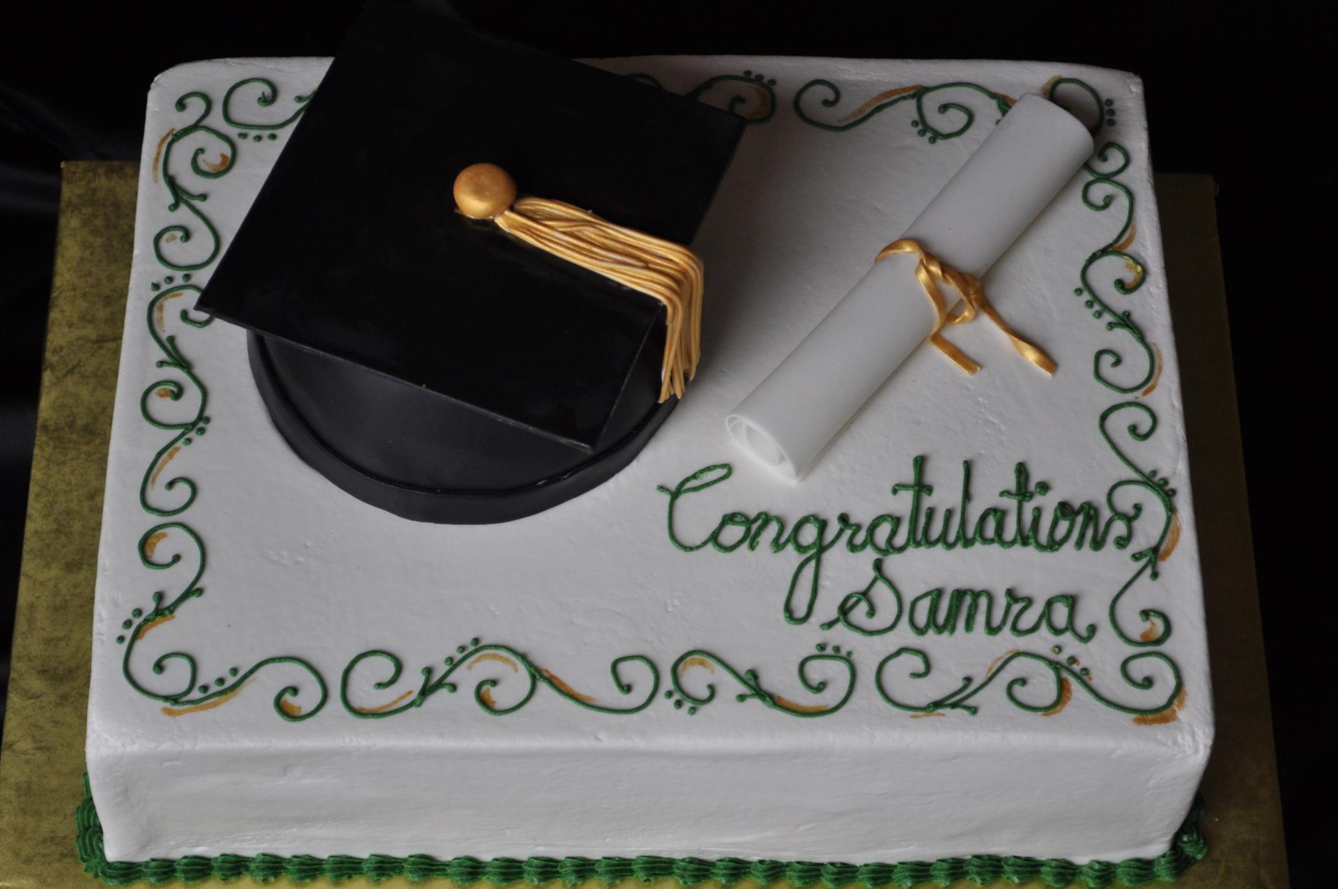 Graduation cake, graduation hat cake,diploma cake