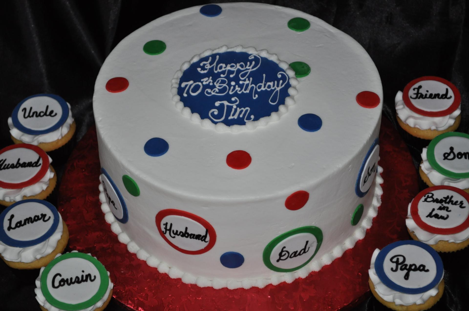 family gathering cake