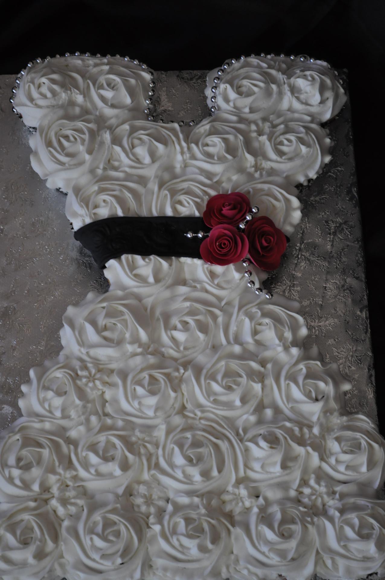 Bridal dress cupcake cake