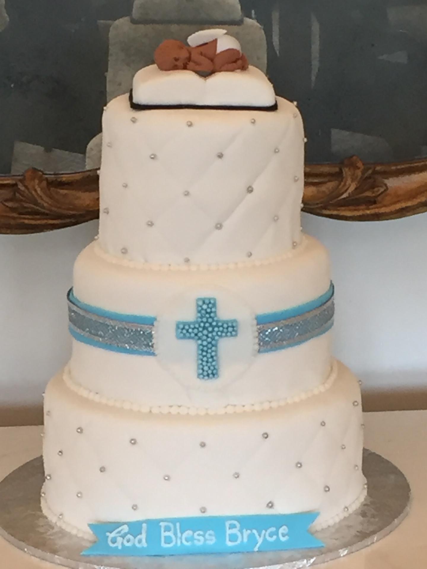 Christening cake, baptism cake, religious cake