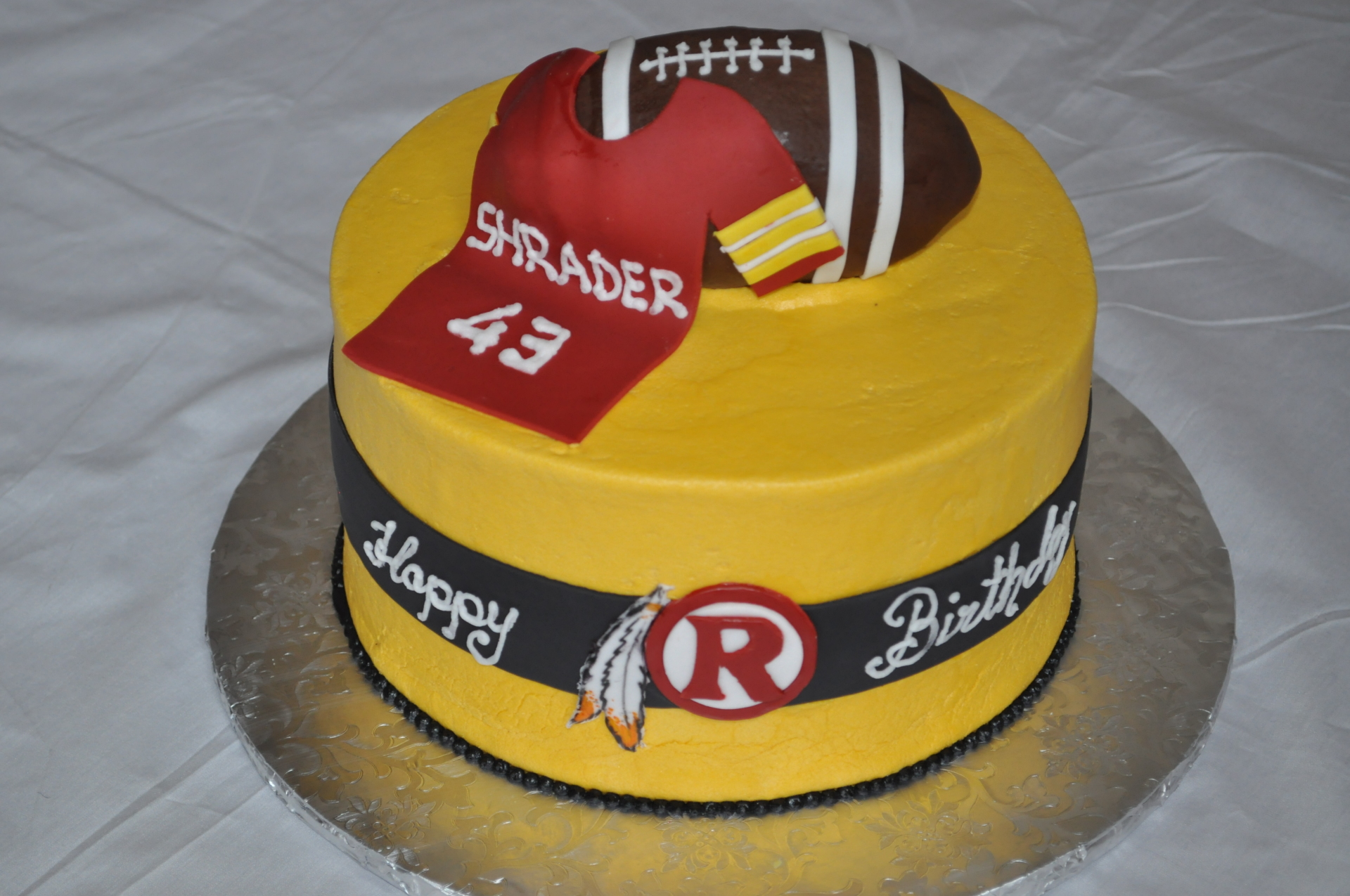 Redskins jersey football cake