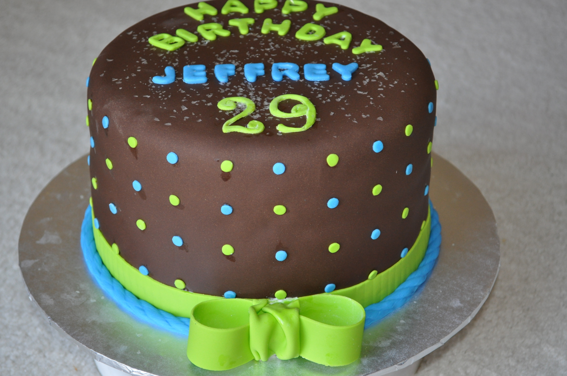 Men's Fondant birthday cake