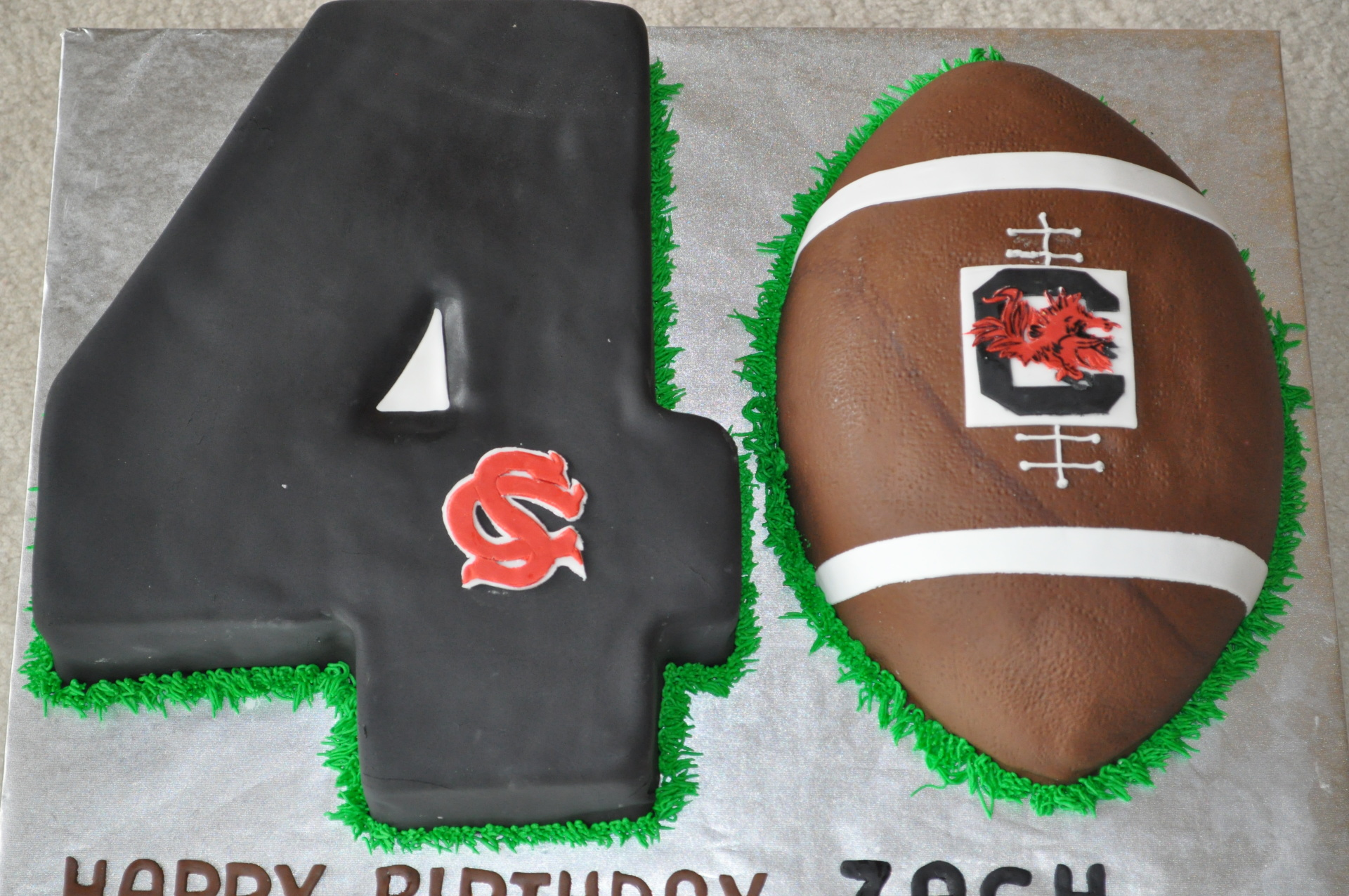 Number 40 cake,football number cake