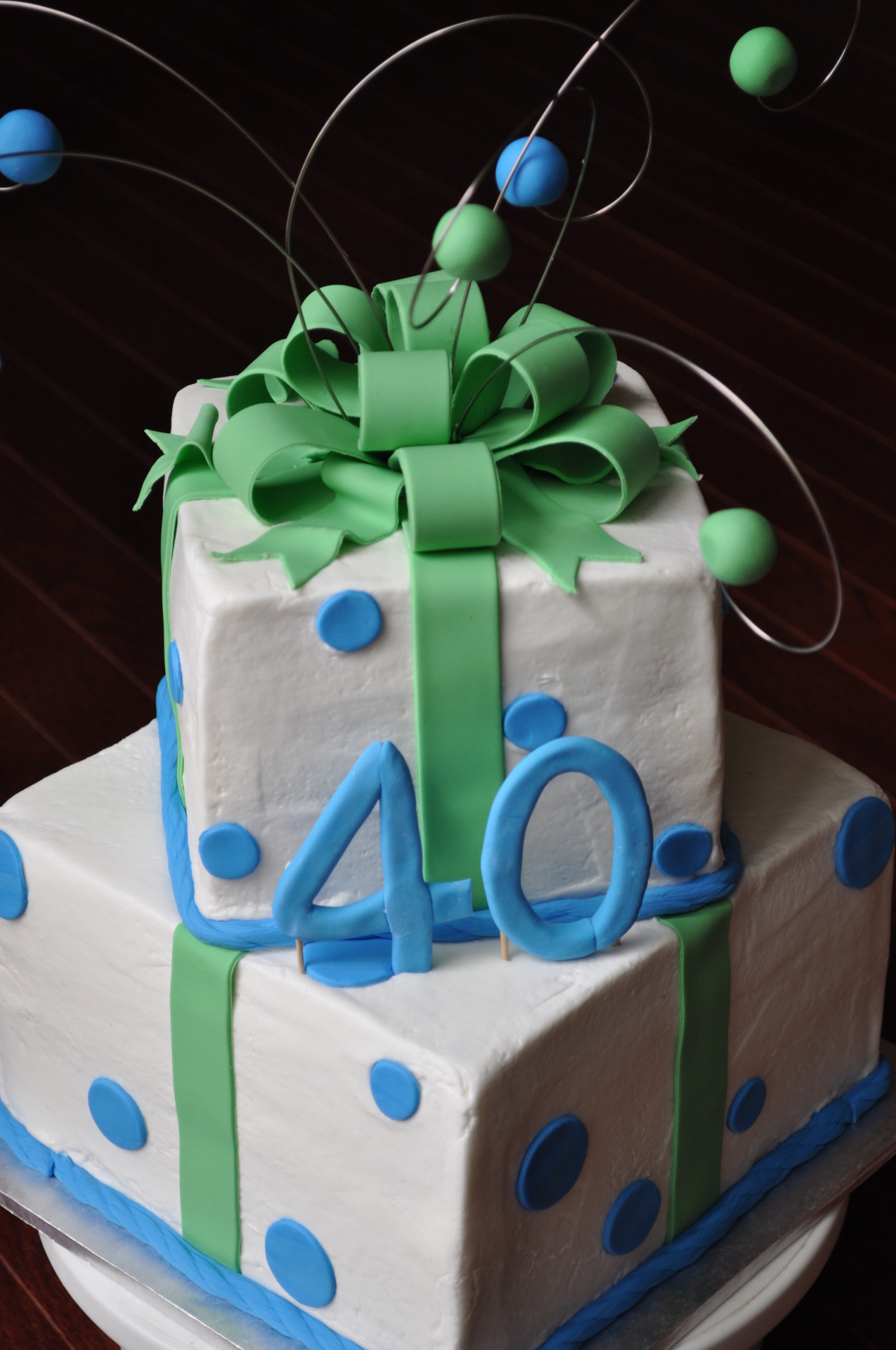 Simple birthday cake, 40th birthday cake
