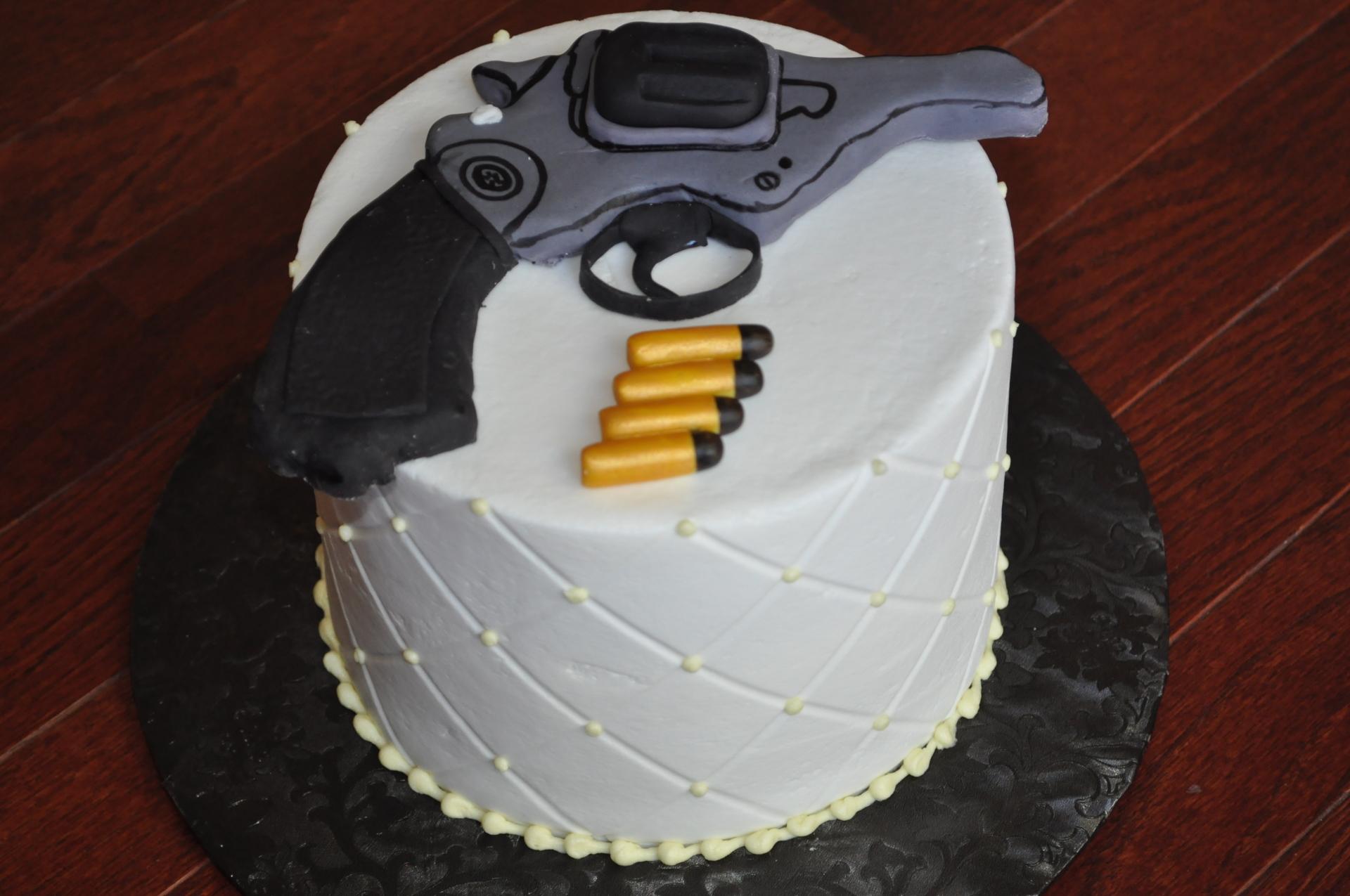pistol gun cake
