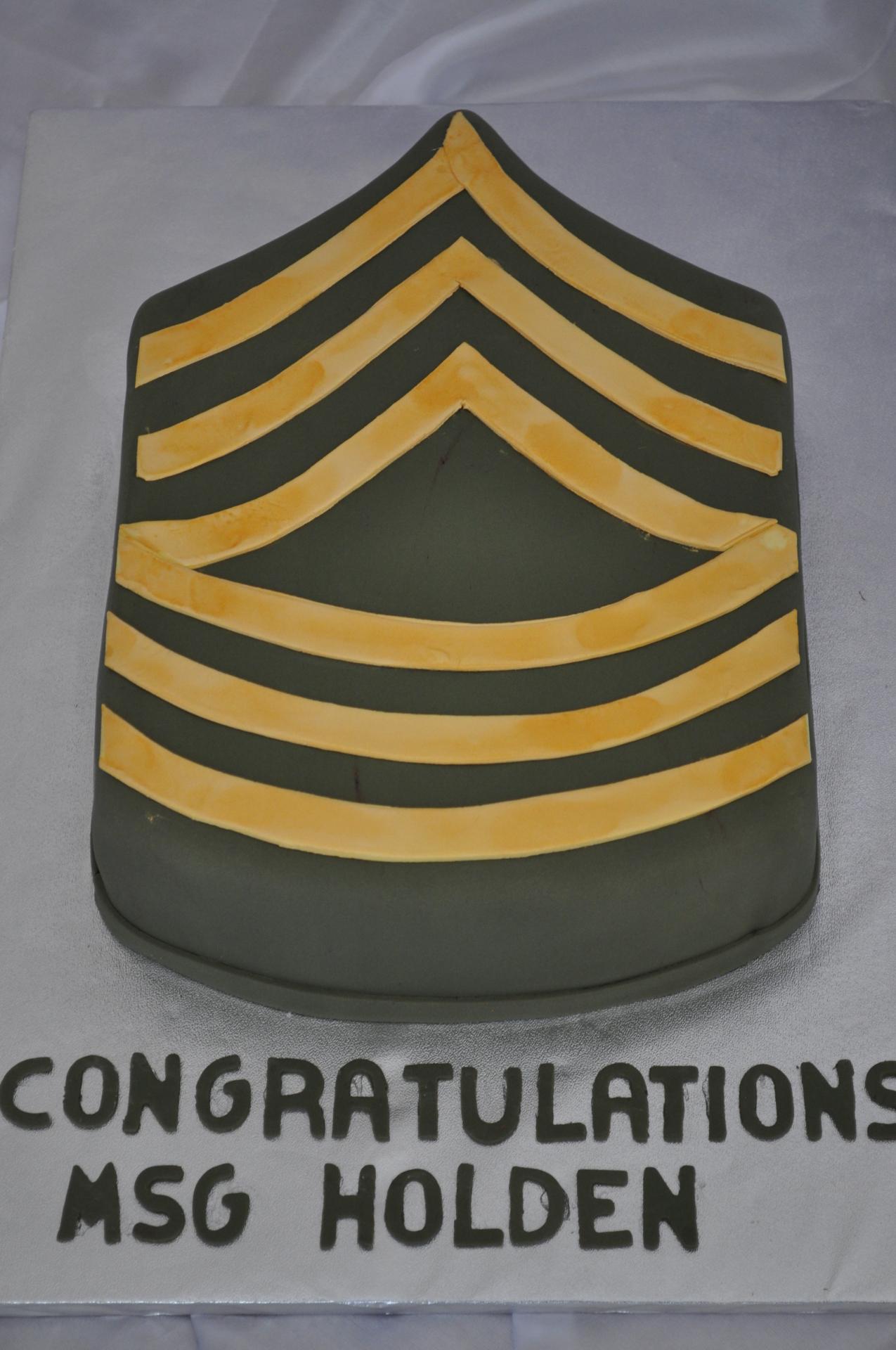 Military Army rank cake