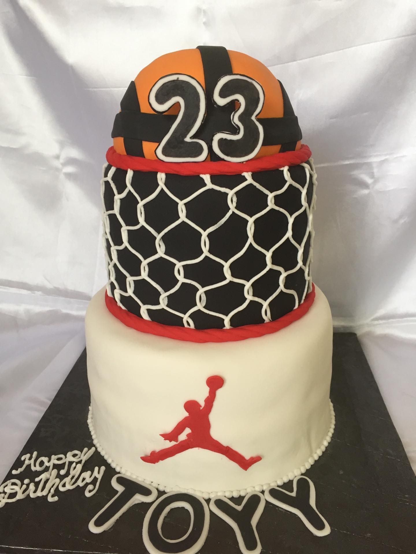 Basketball cake, jordan cake