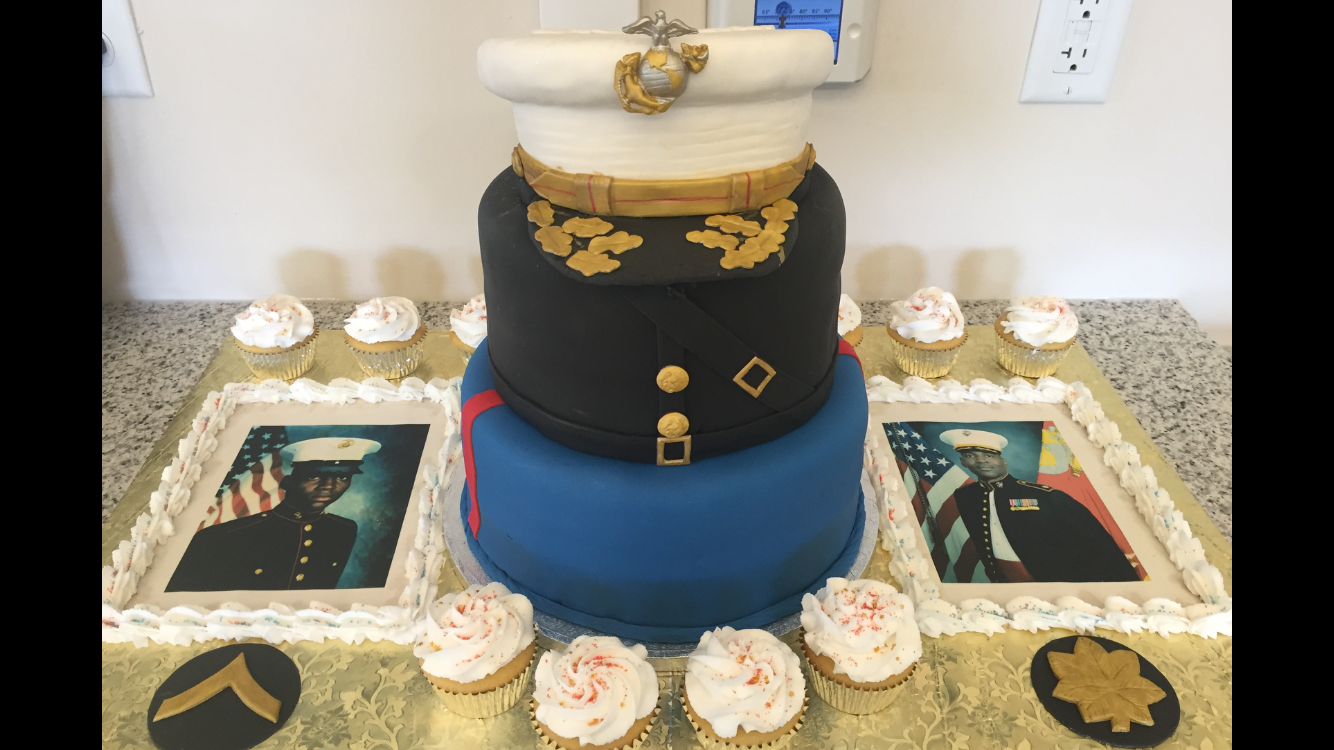Military promotion cake, Army retirement cake