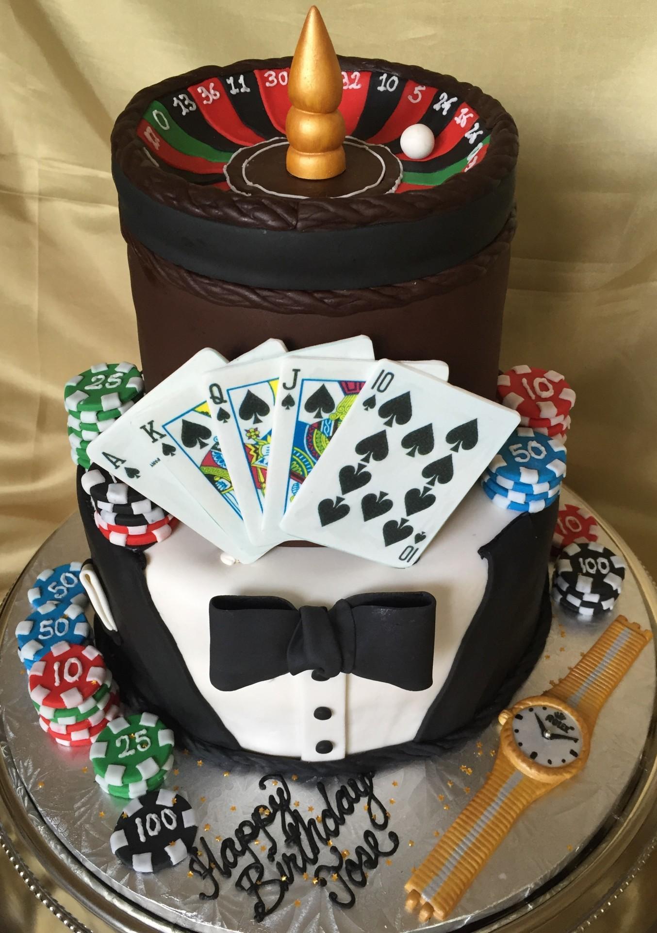 Casino theme cake,tuxedo cake, blackjack cake,poker cake
