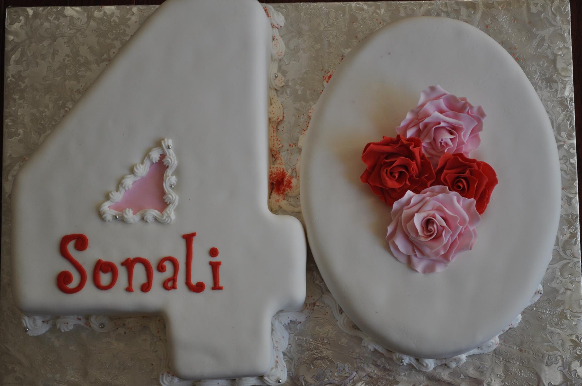 Number 40 cake