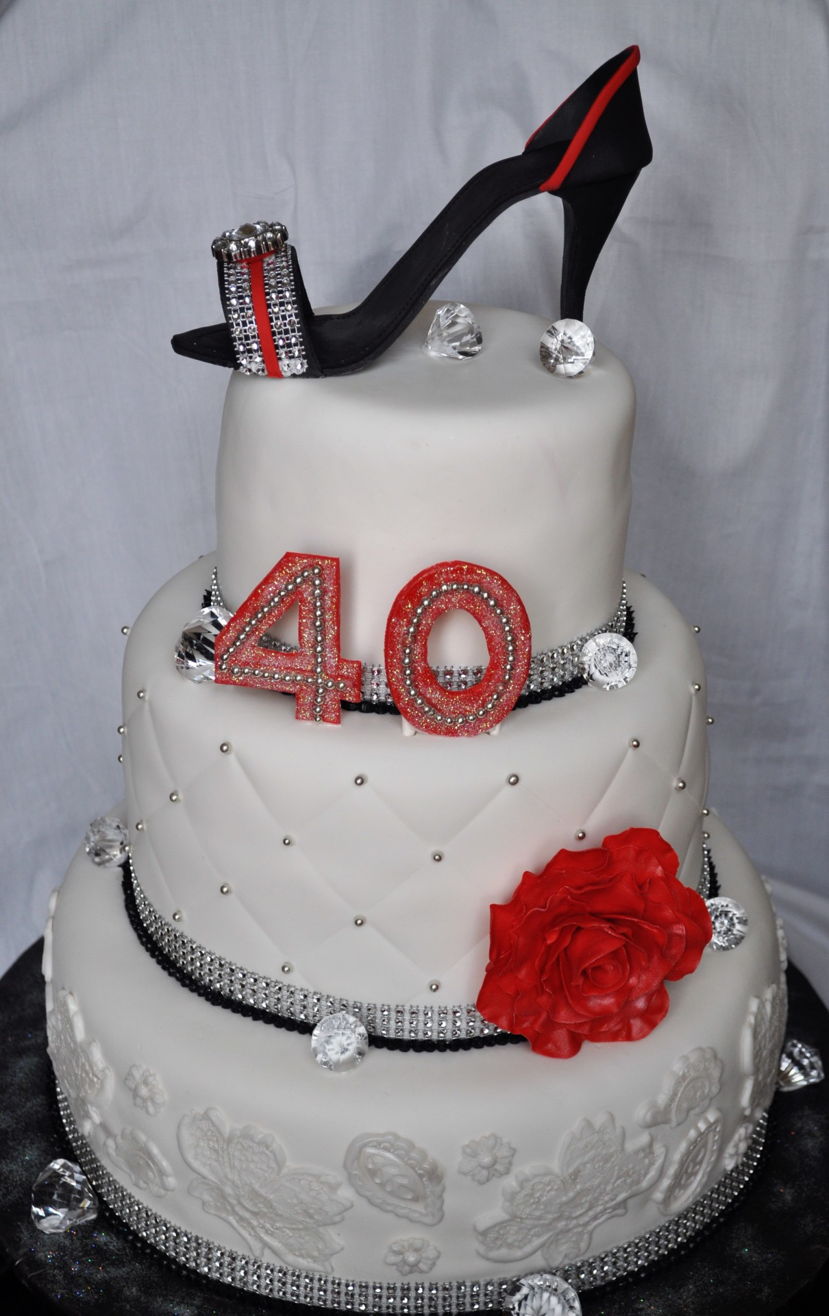 Heel, glam cake ,40th birthday cake for her