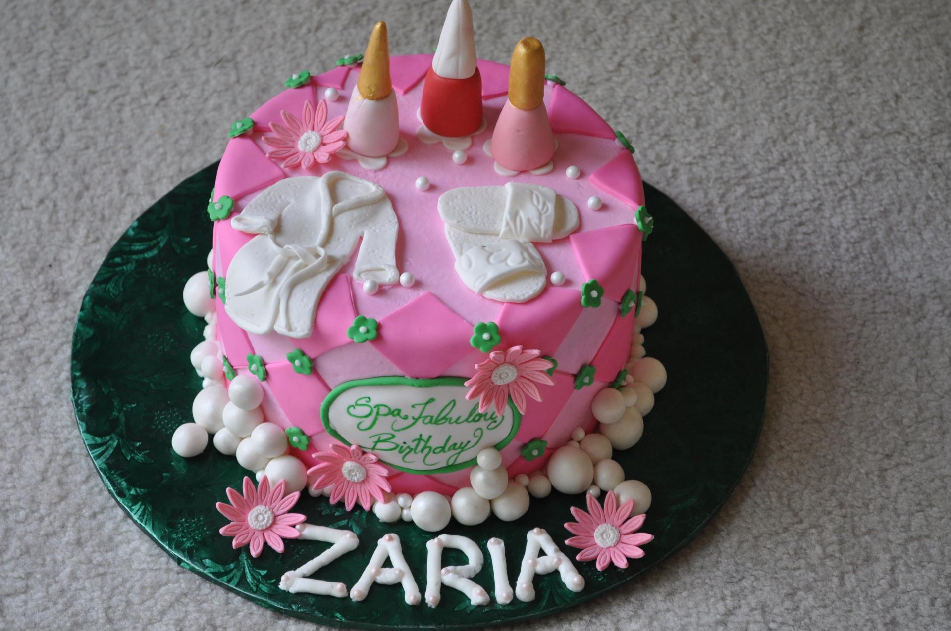 Spa cake,salon cake
