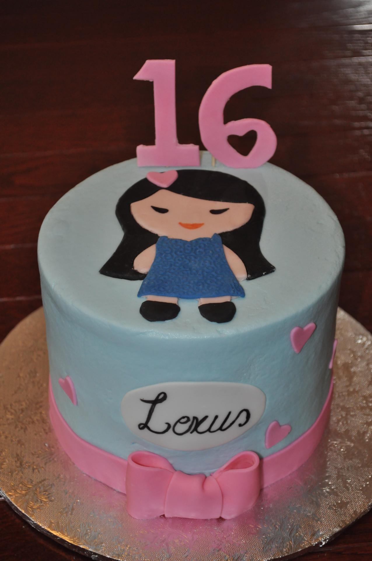 Japanese girl cake