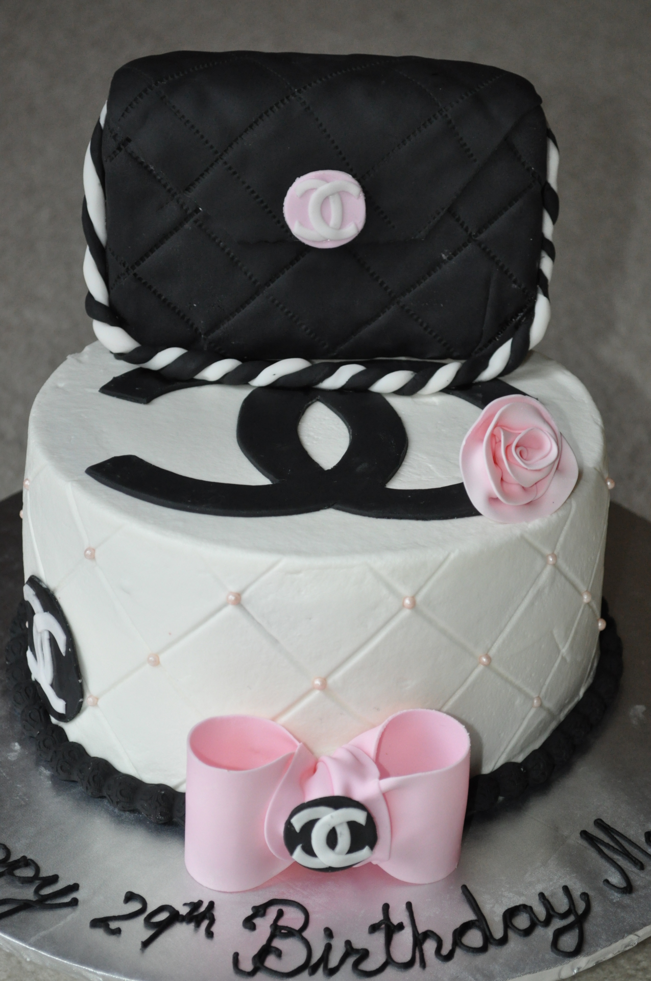 Chanel purse cake-2