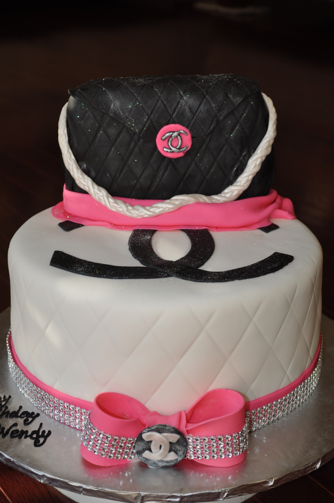 Chanel purse cake-3
