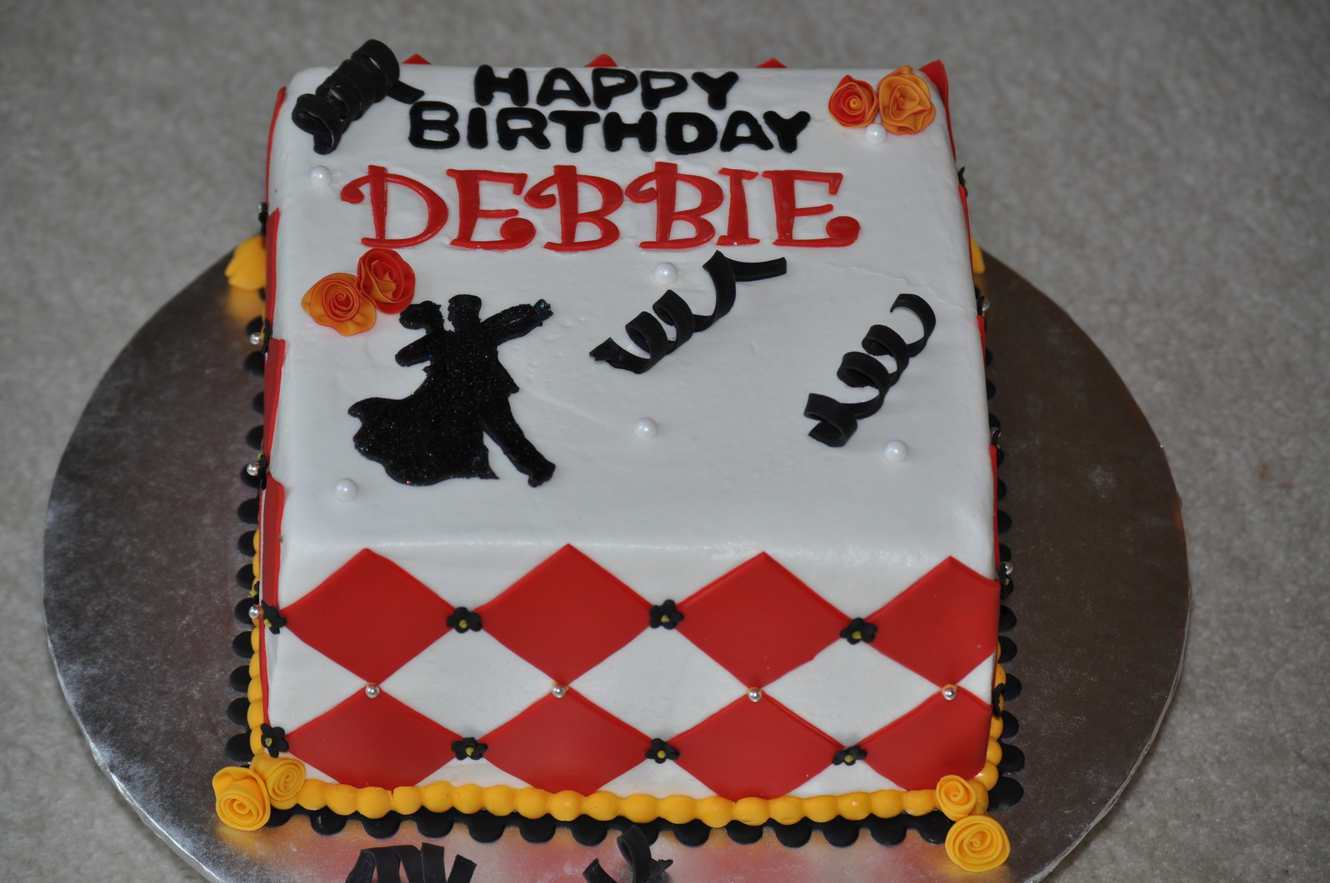Dance theme birthday cake