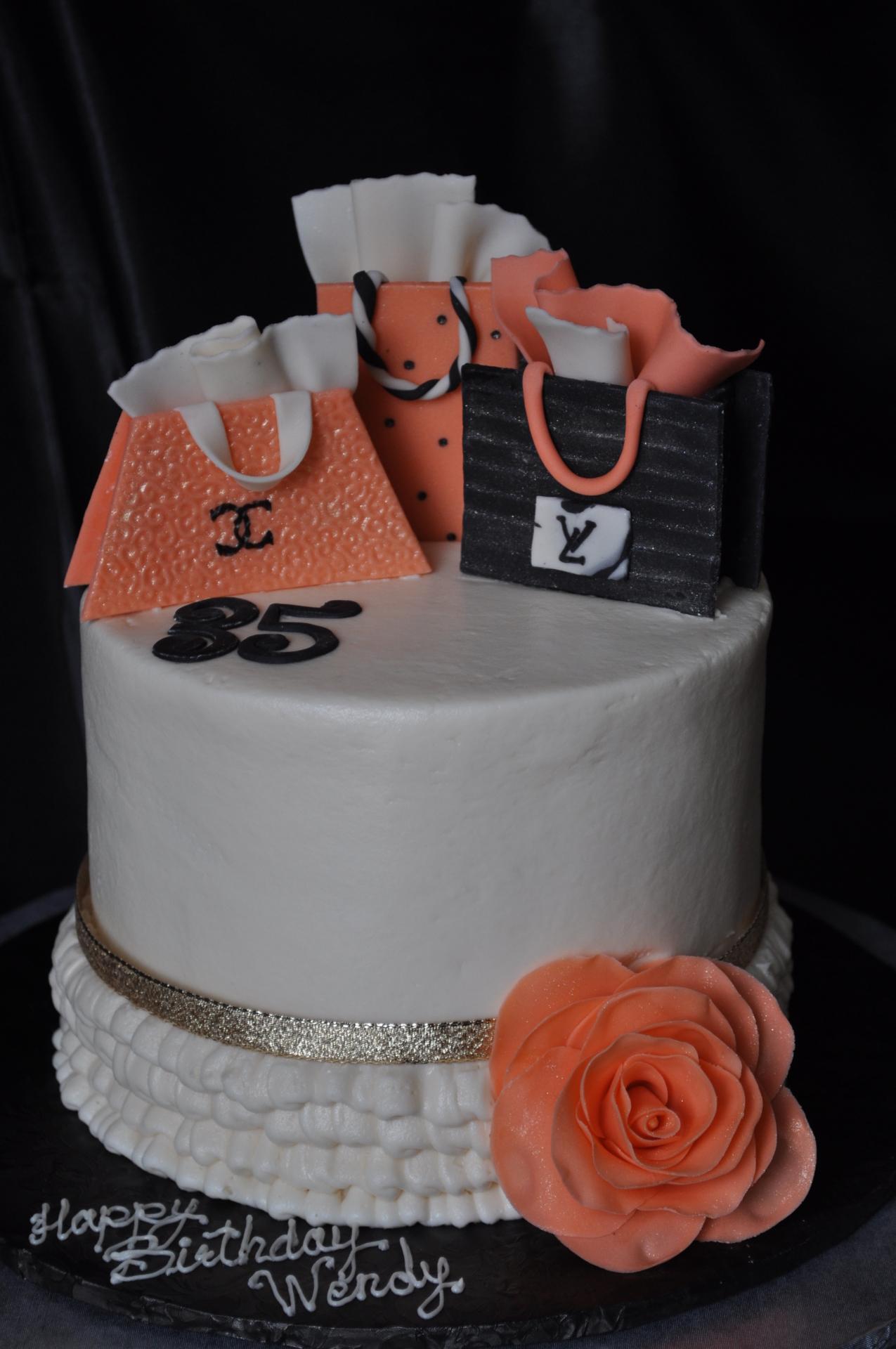 Shopping bags cake,ruffles cake