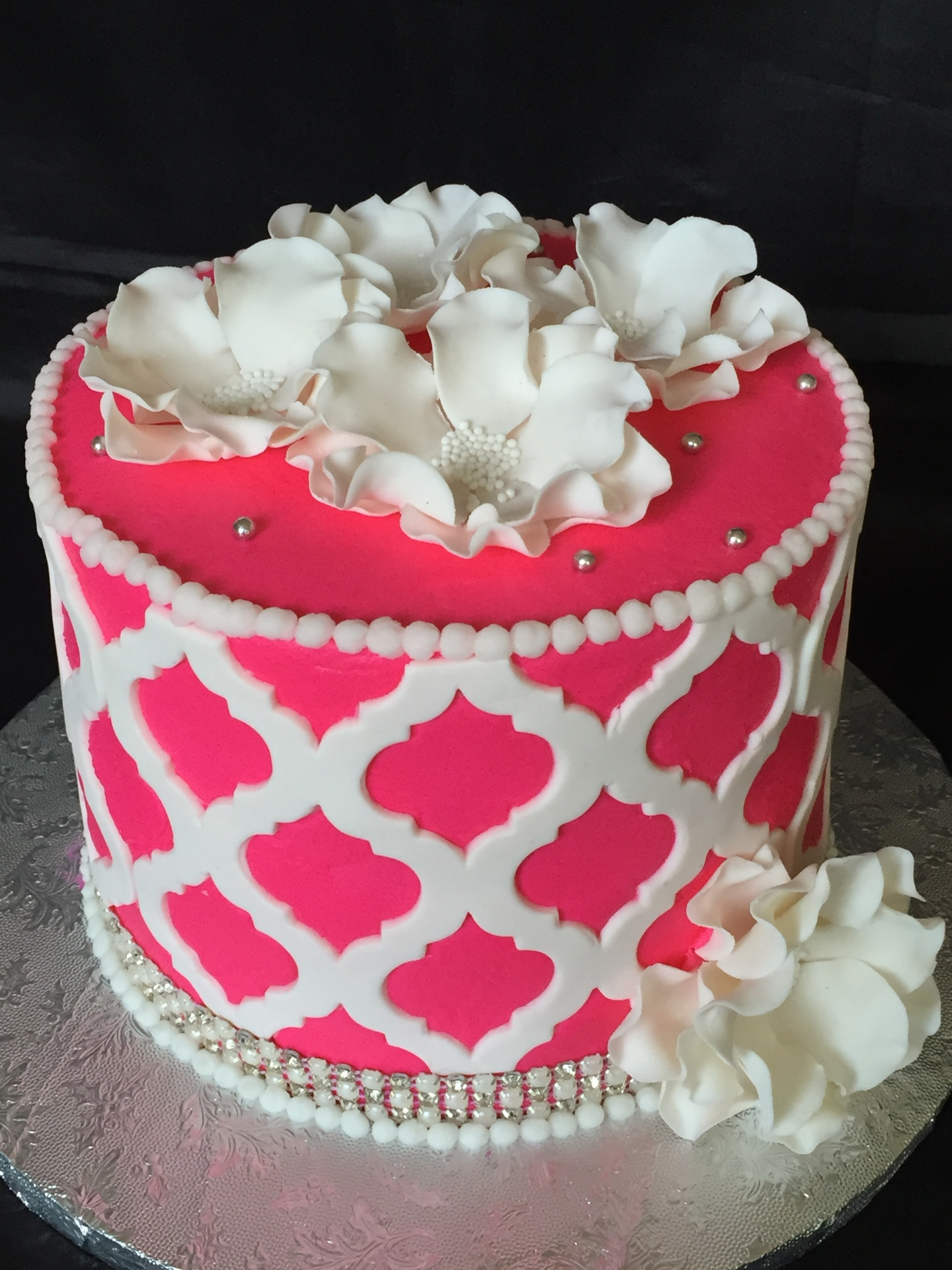 Moroccan lace birthday cake