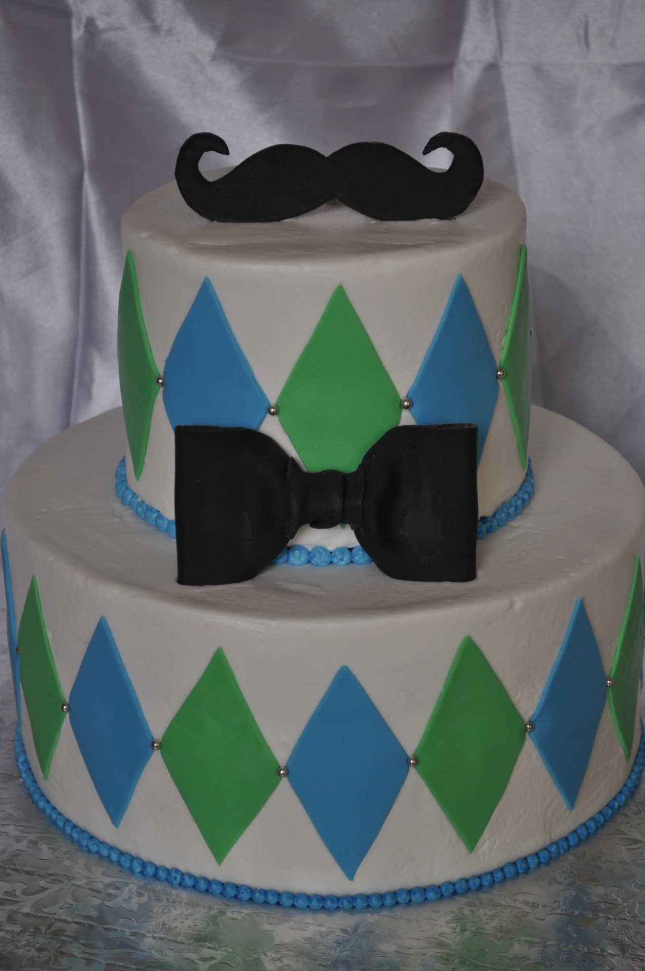 Mustache Bow tie baby shower, Little man baby shower