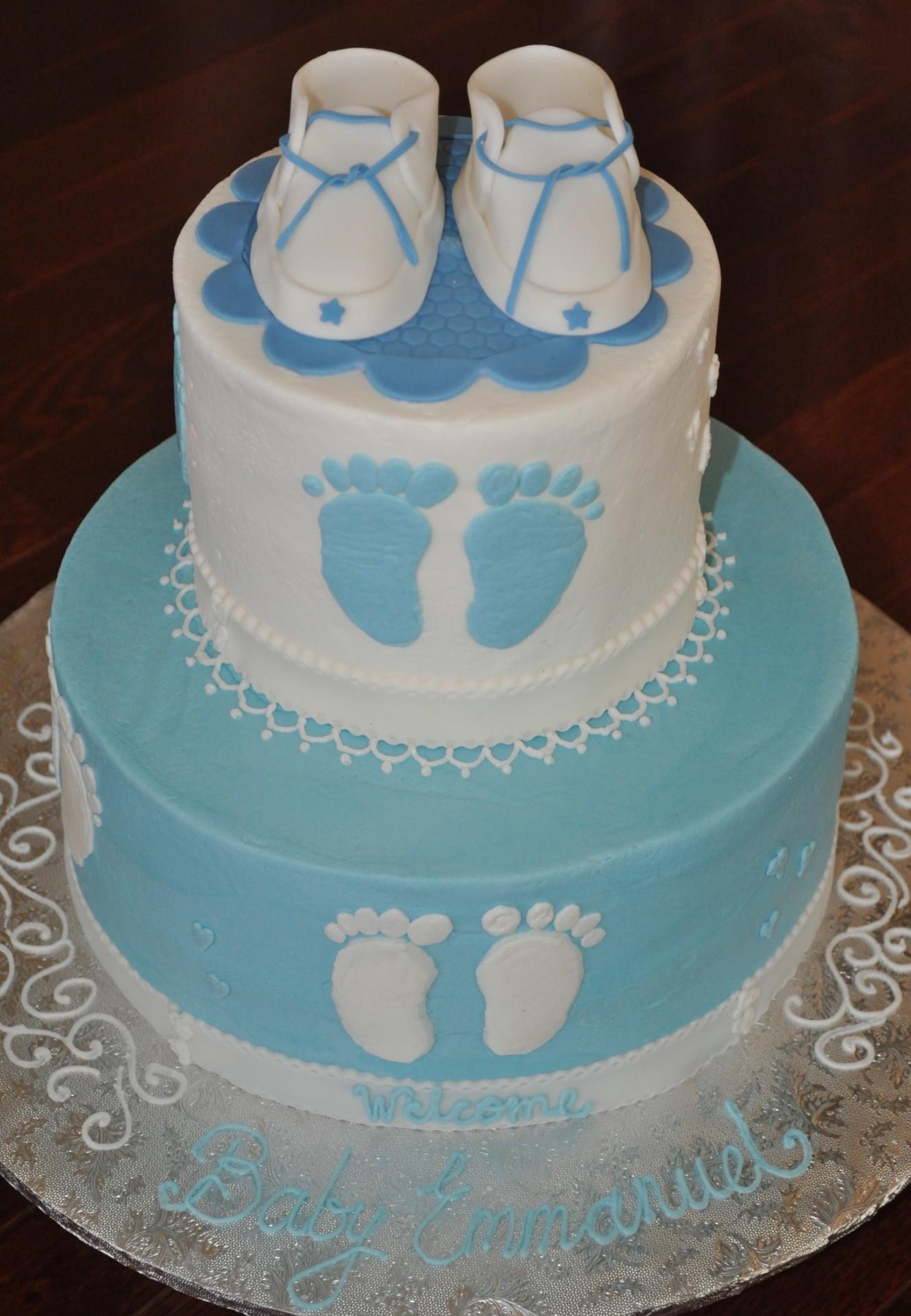 Baby booties footprints baby shower