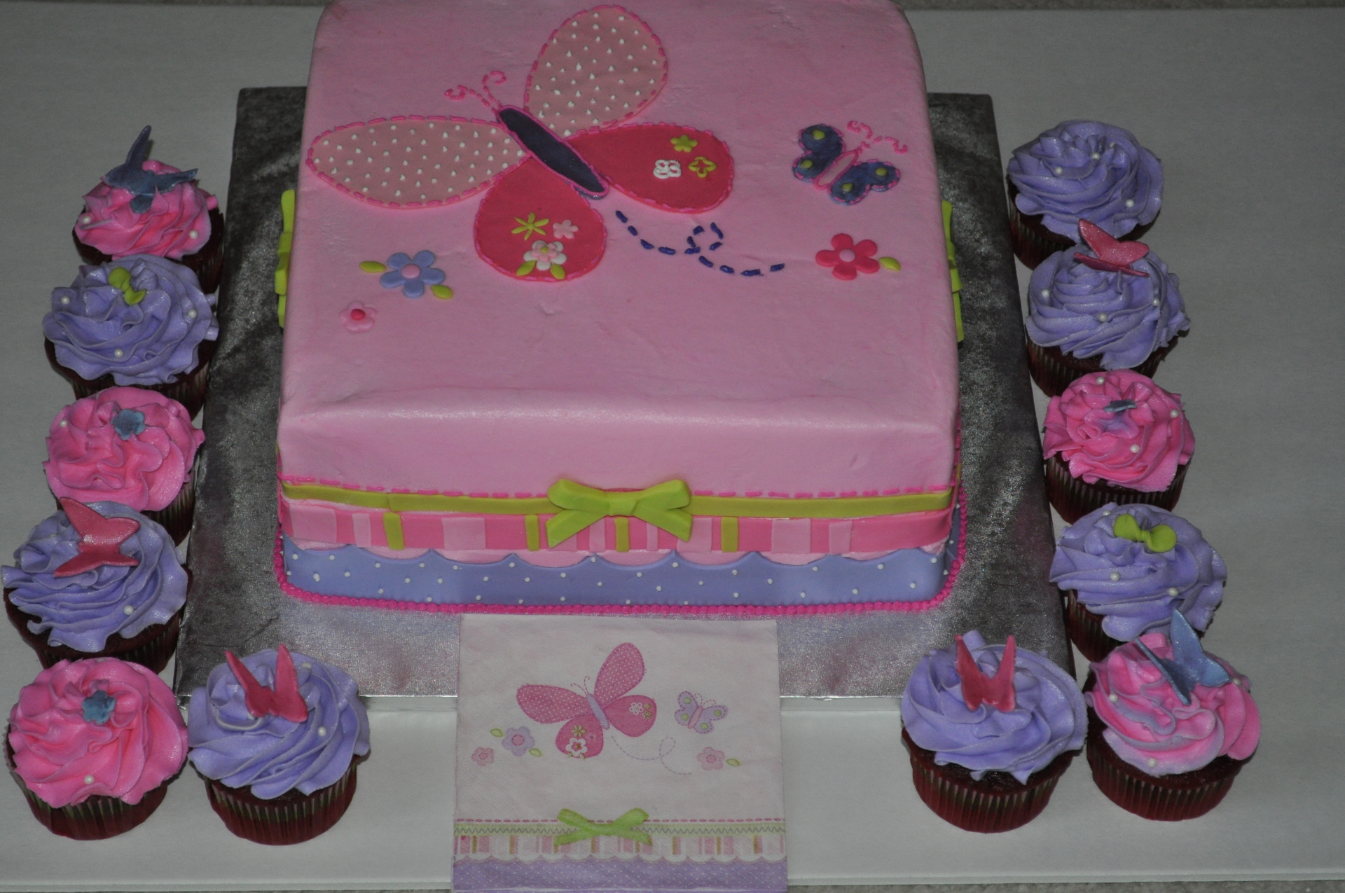 Pink baby shower to match the napkins