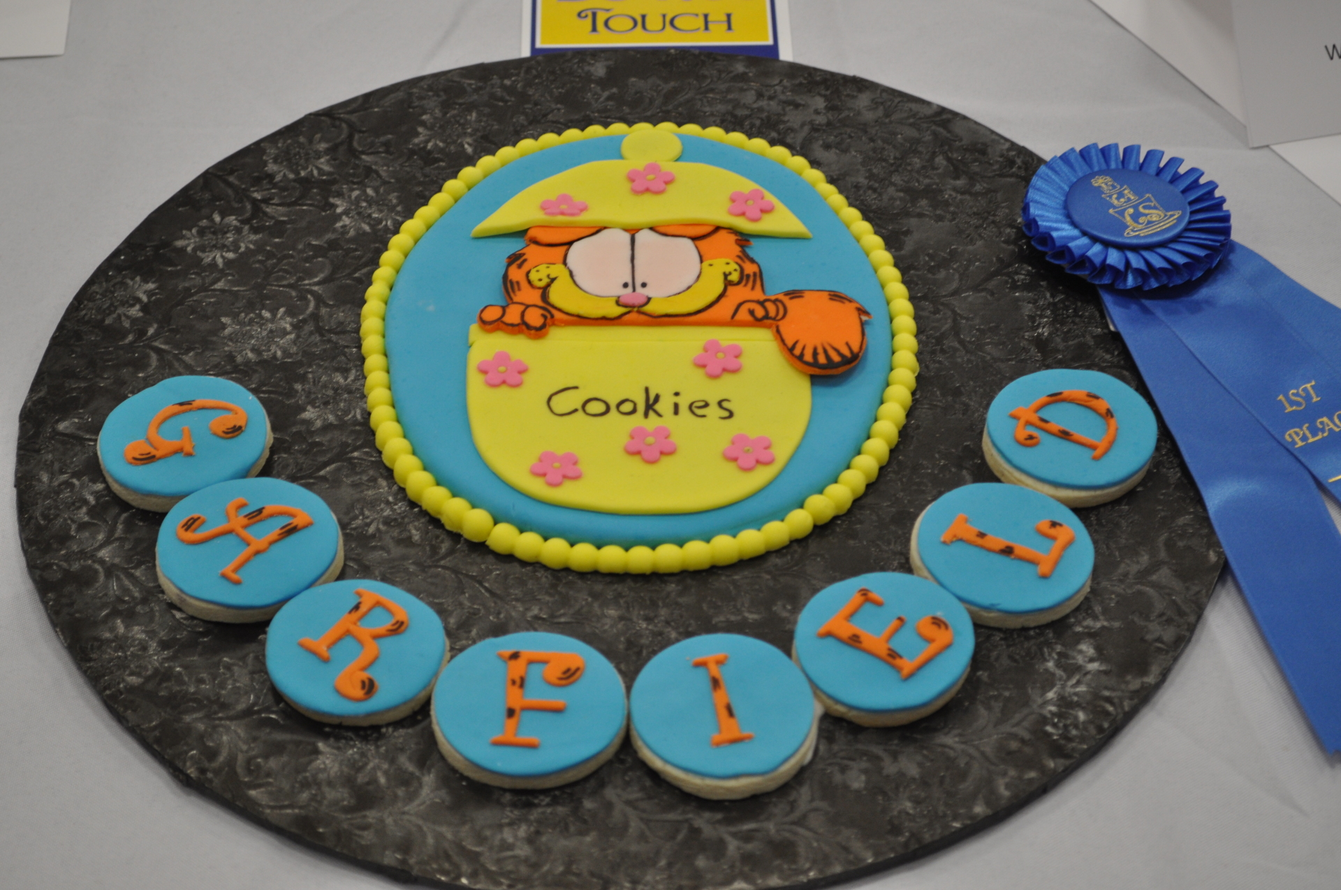 Garfield cookies, placed 1st in NCACS cake show and competition