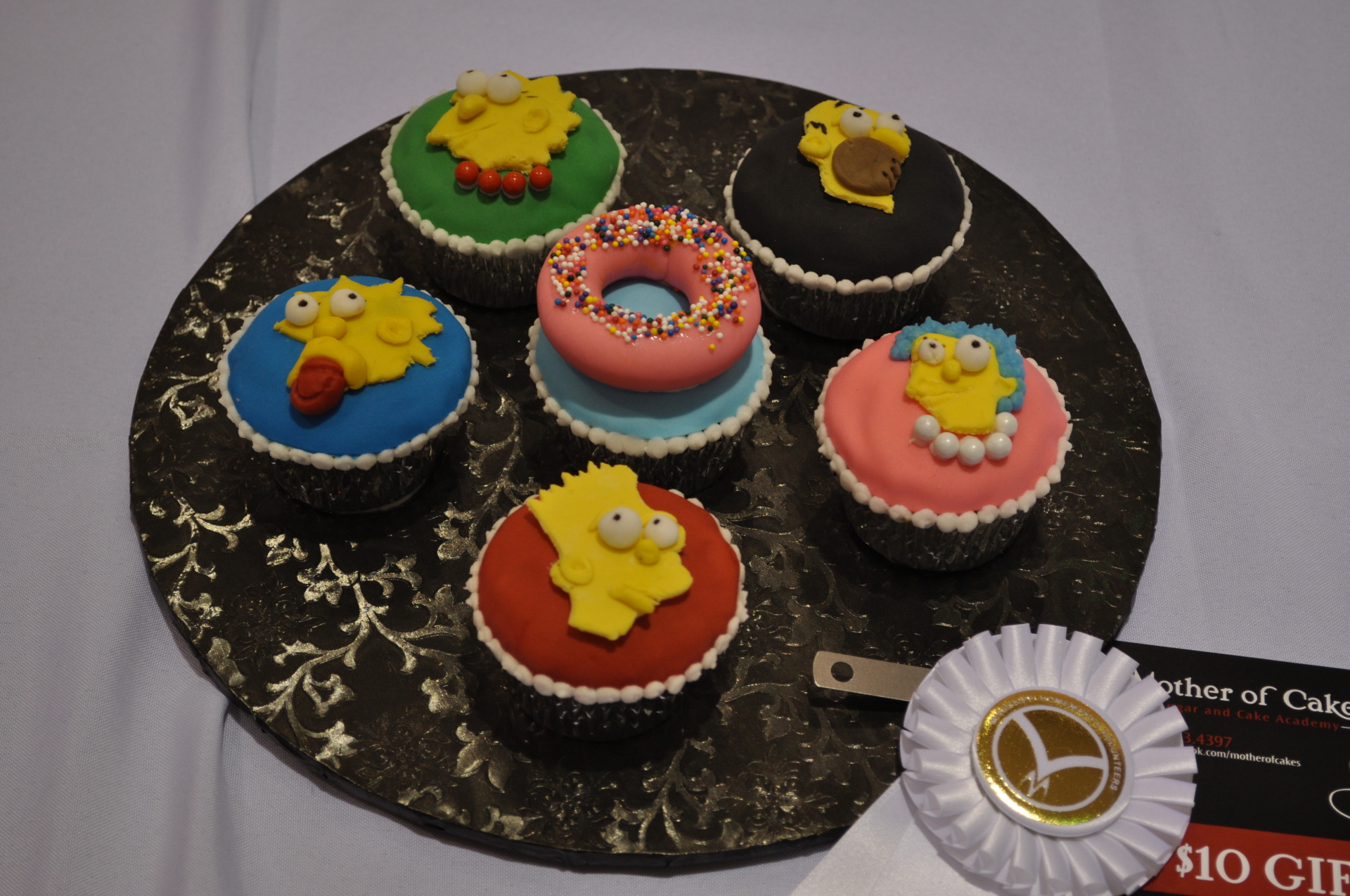 Simpsons cupcakes- 3rd place in NCACS