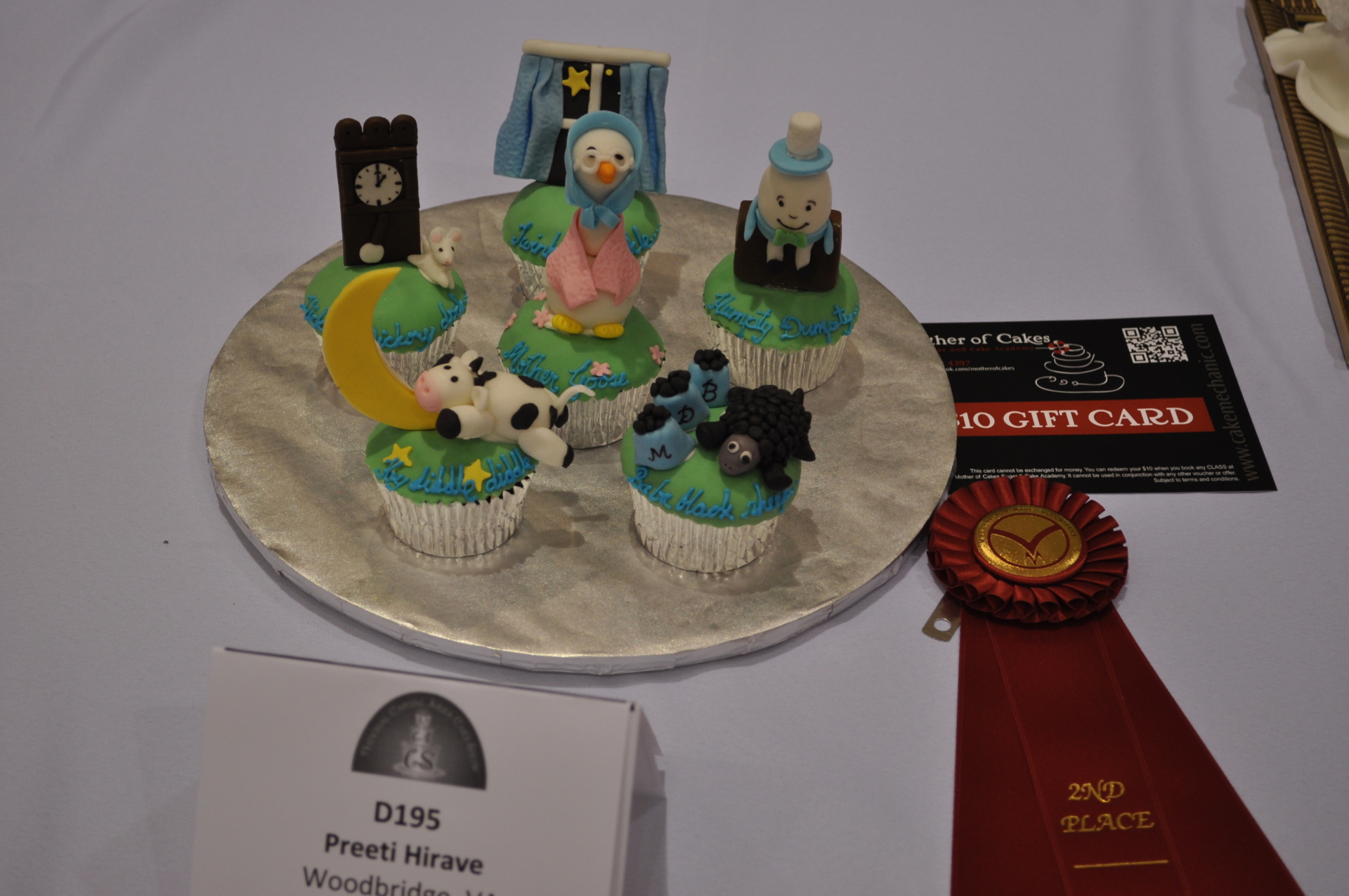 Nursery rhymes cupcakes- 2nd place in NCACS