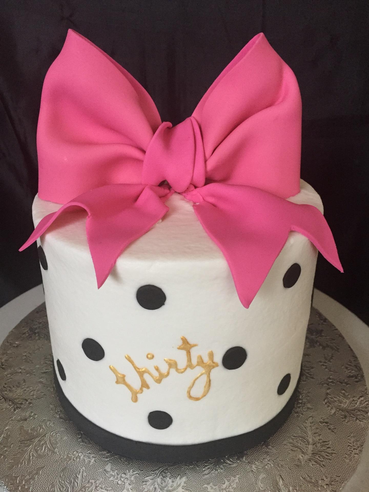 Big pink bow 30th birthday